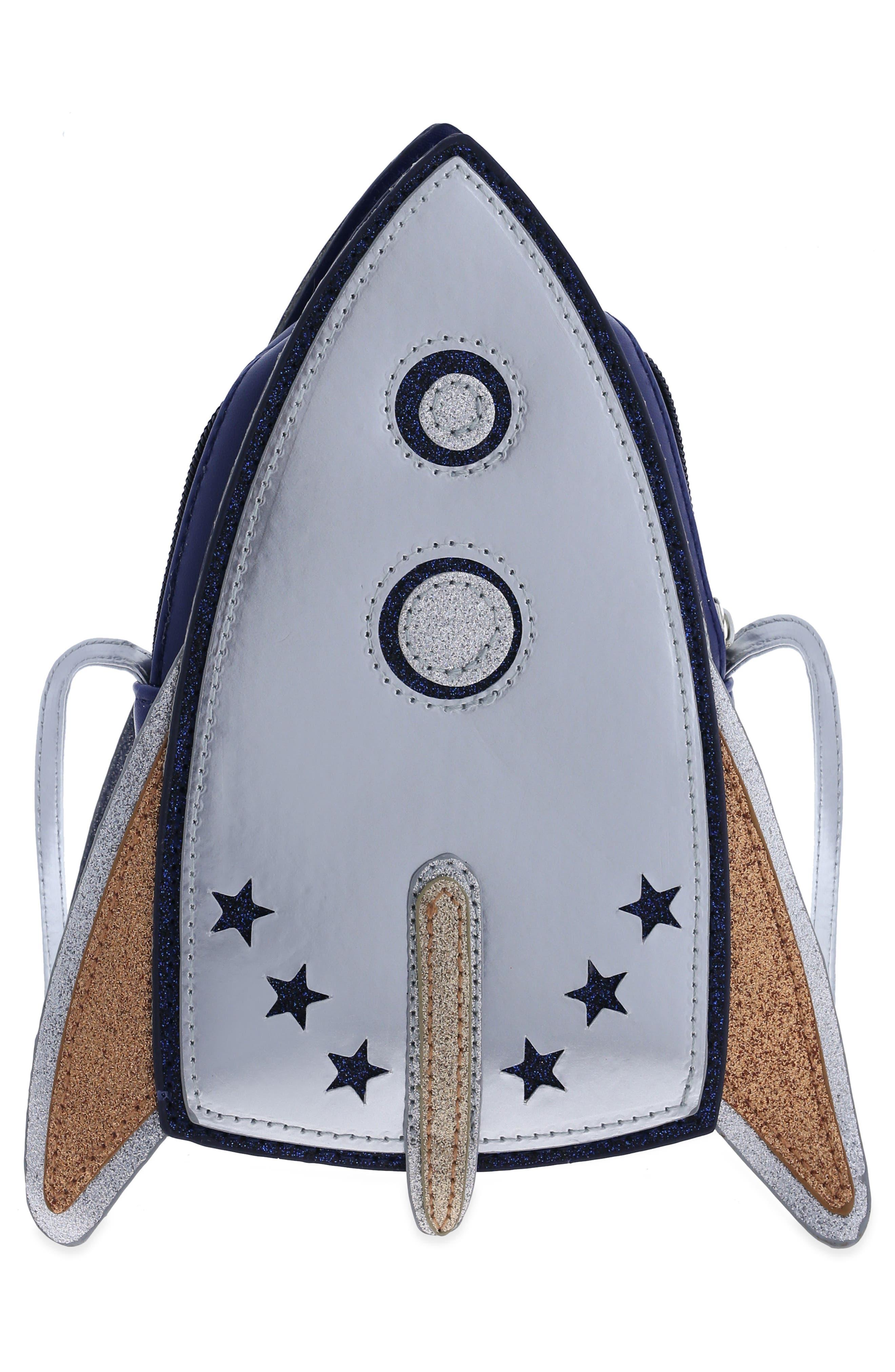 Rocket Ship Bag,                             Alternate thumbnail 2, color,                             Navy Combo