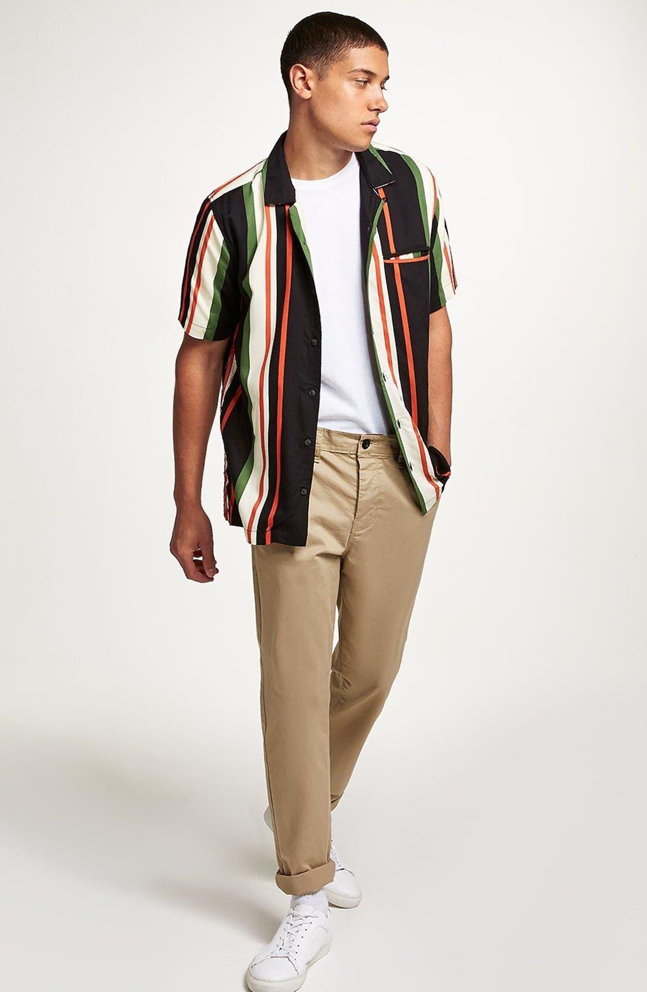 Stripe Shirt,                             Alternate thumbnail 3, color,                             White Multi