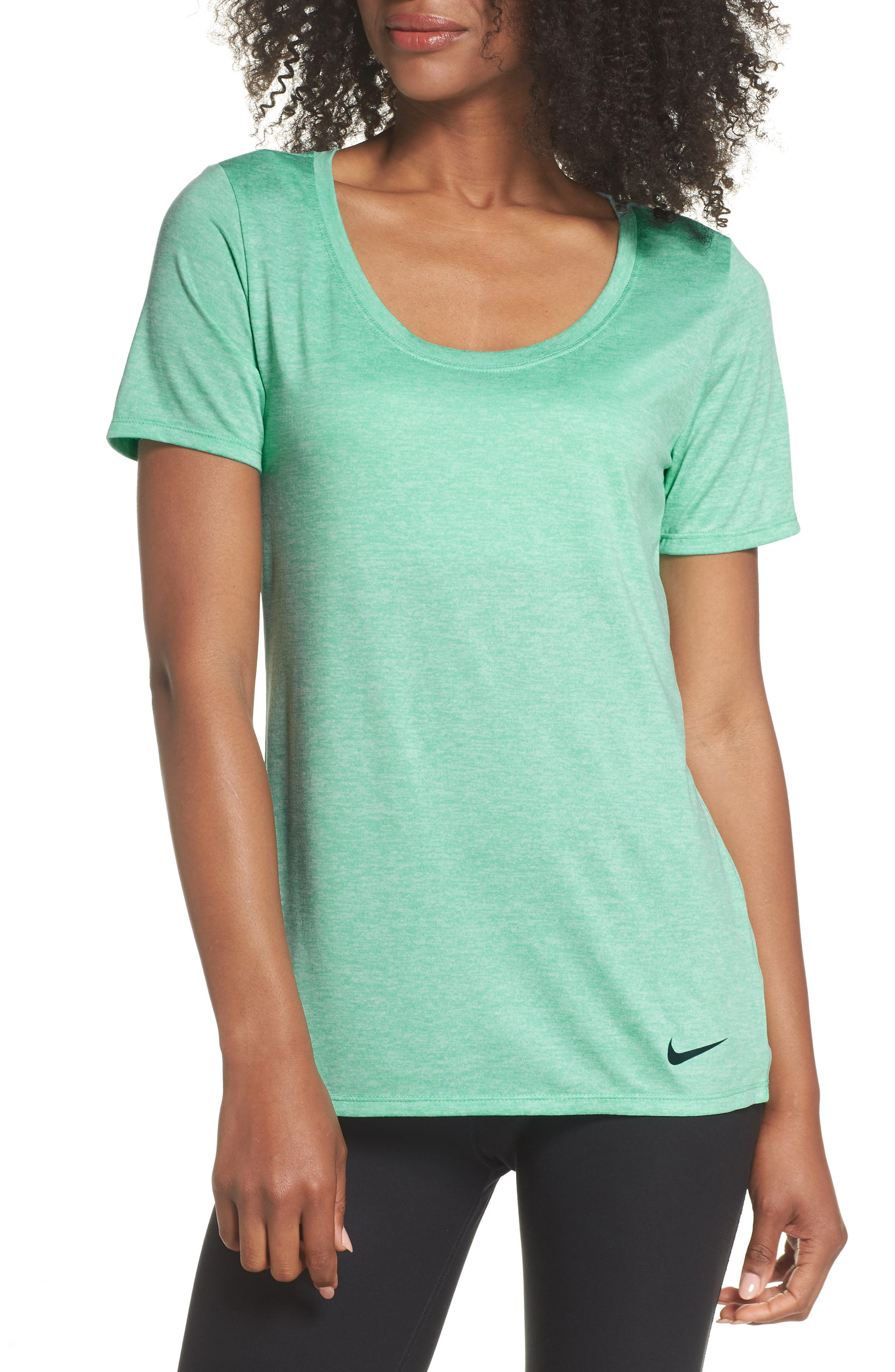 Dry Training Tee,                         Main,                         color, Light Menta/ White/ Jungle