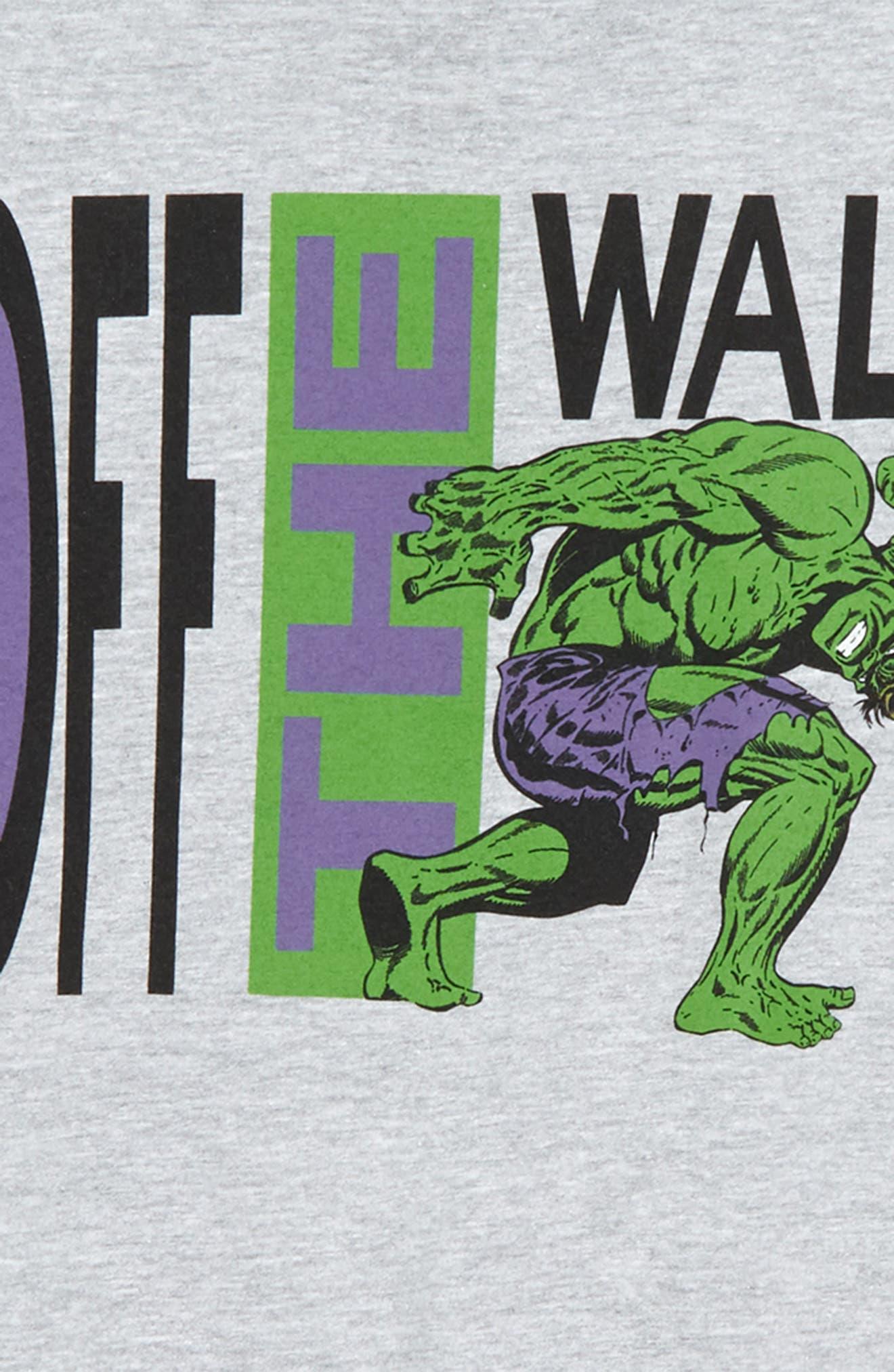 x Marvel<sup>®</sup> Avengers Hulk Graphic T-Shirt,                             Alternate thumbnail 3, color,                             Athletic Heather