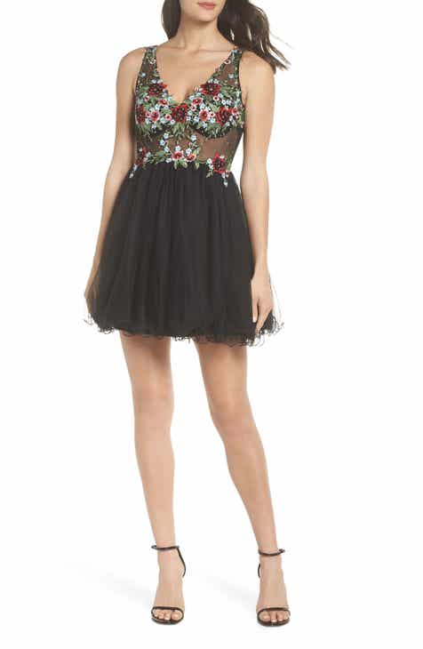 494f9378680 Blondie Nites Embroidered Fit   Flare Dress
