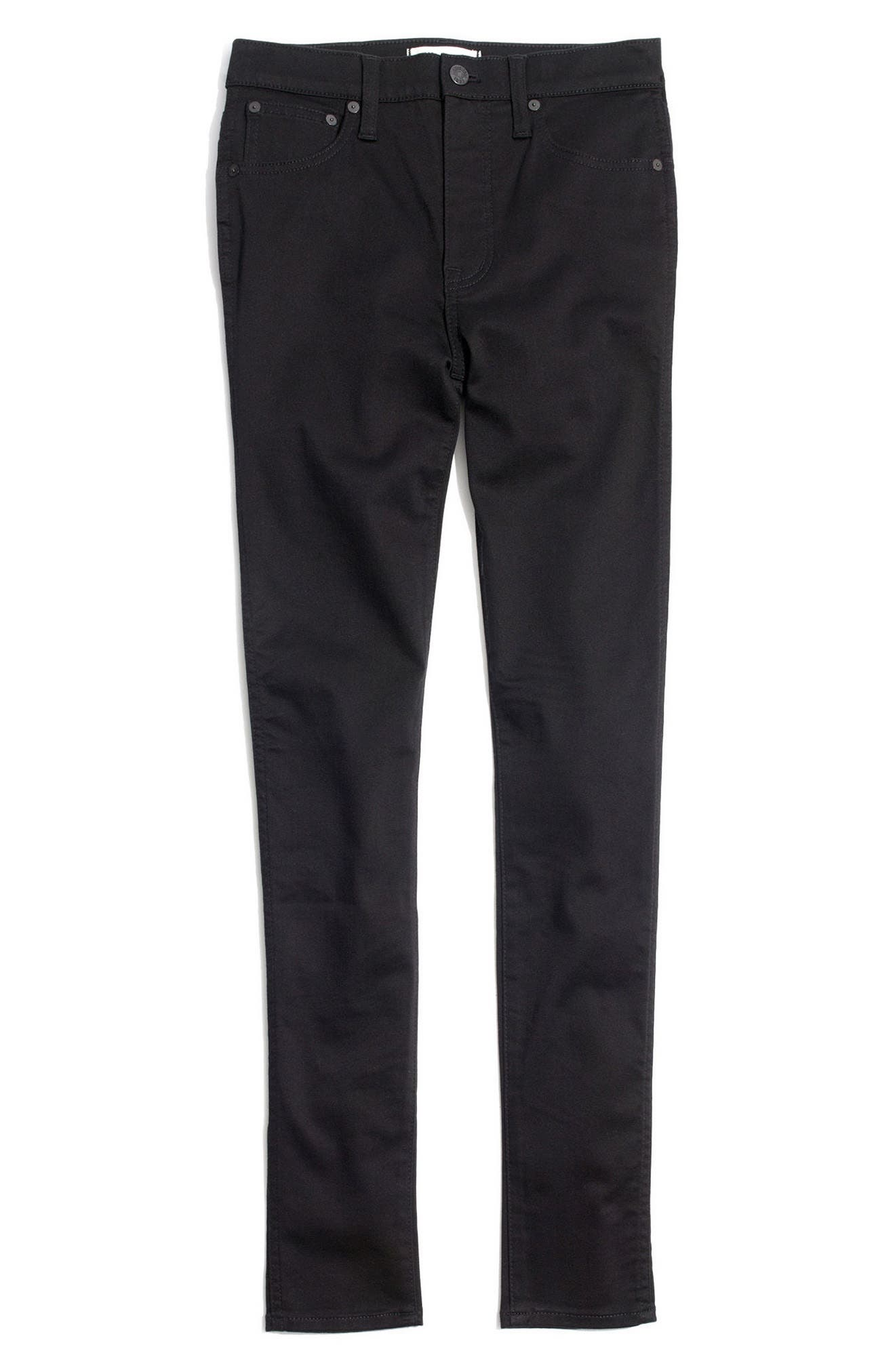 10-Inch High Waist Skinny Jeans,                             Alternate thumbnail 4, color,                             Carbondale