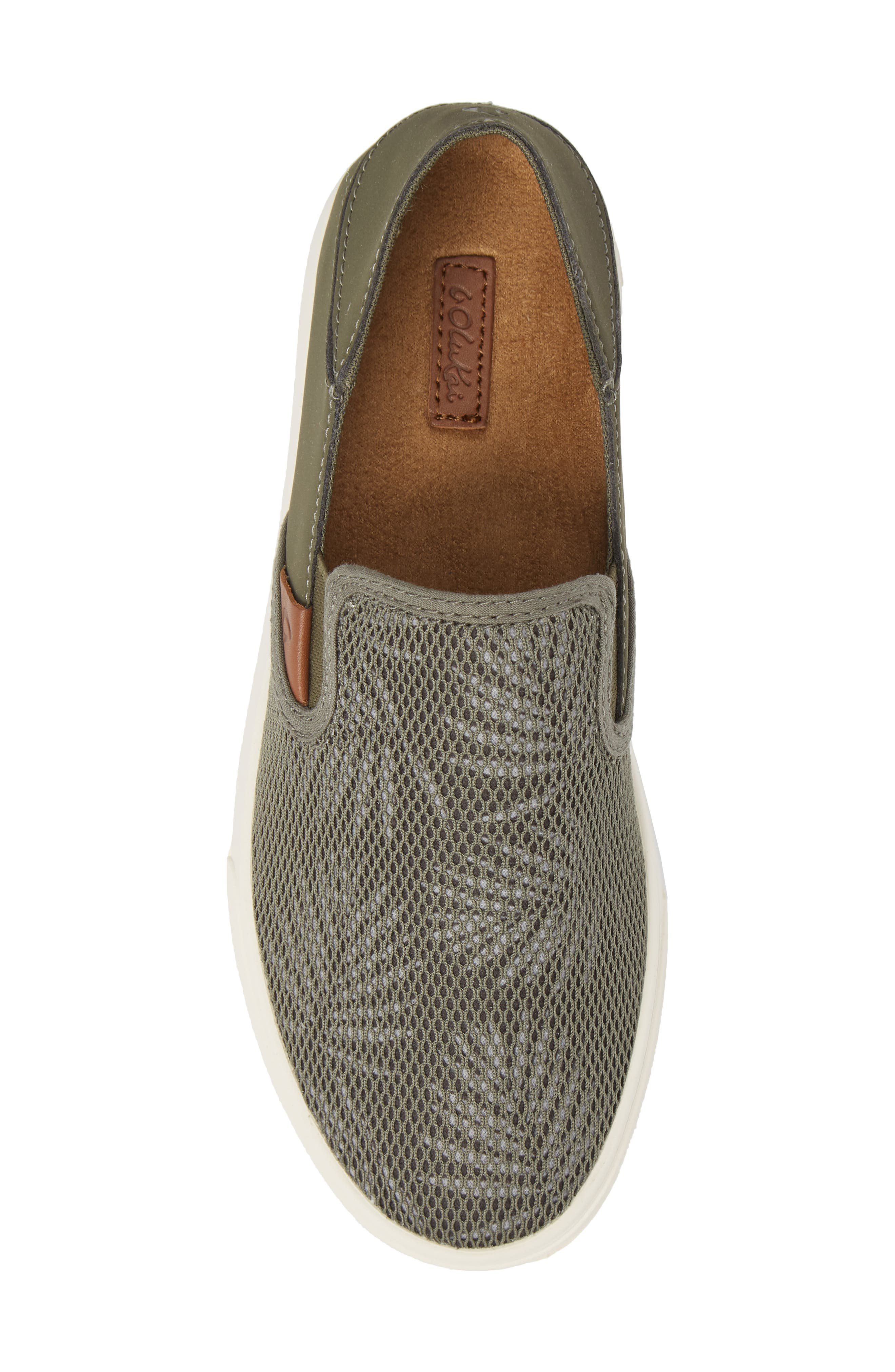 'Pehuea' Slip-On Sneaker,                             Alternate thumbnail 4, color,                             Dusty Olive/ Palm Fabric