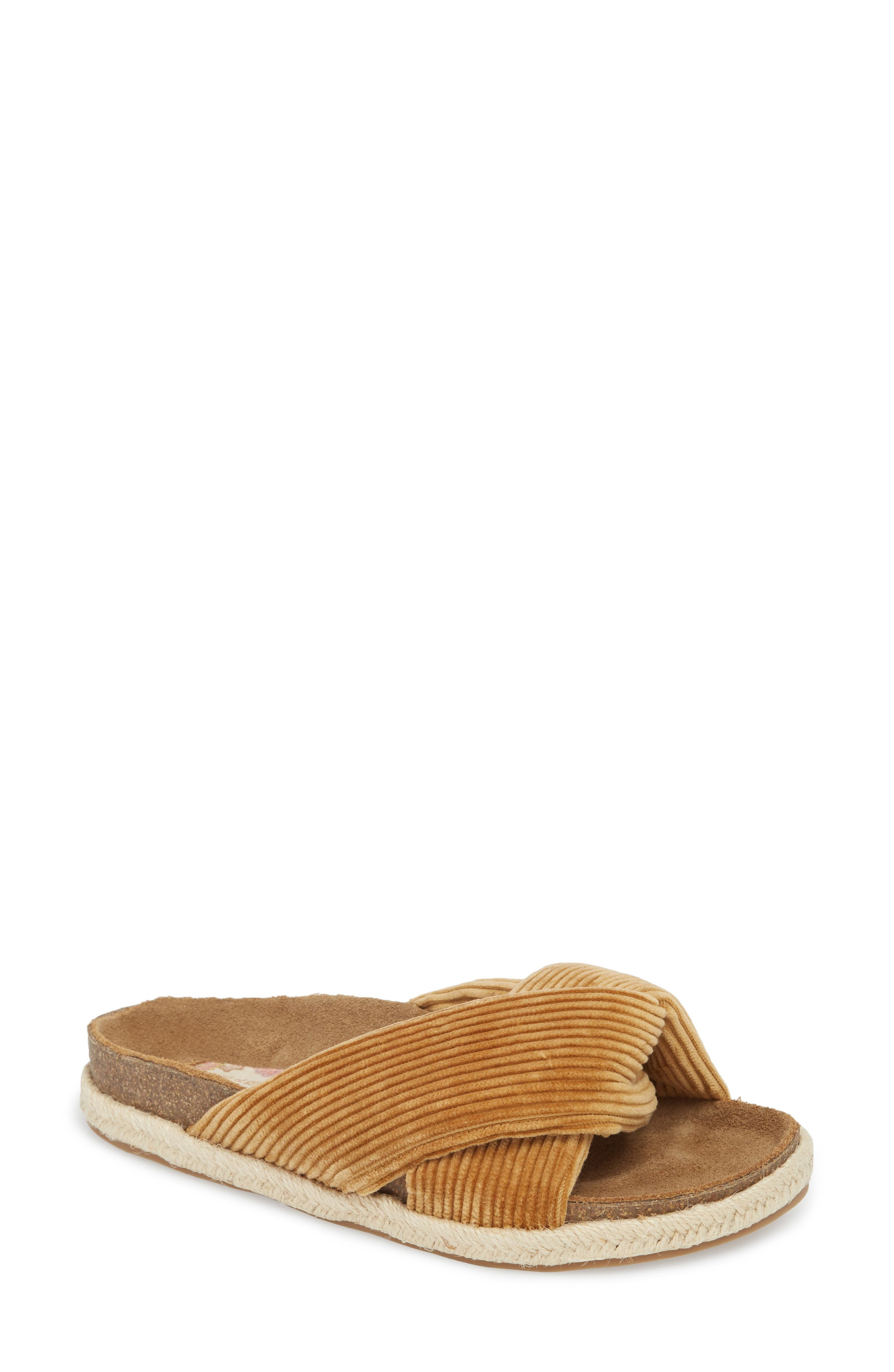 Move Over Flat Sandal,                         Main,                         color, Tan