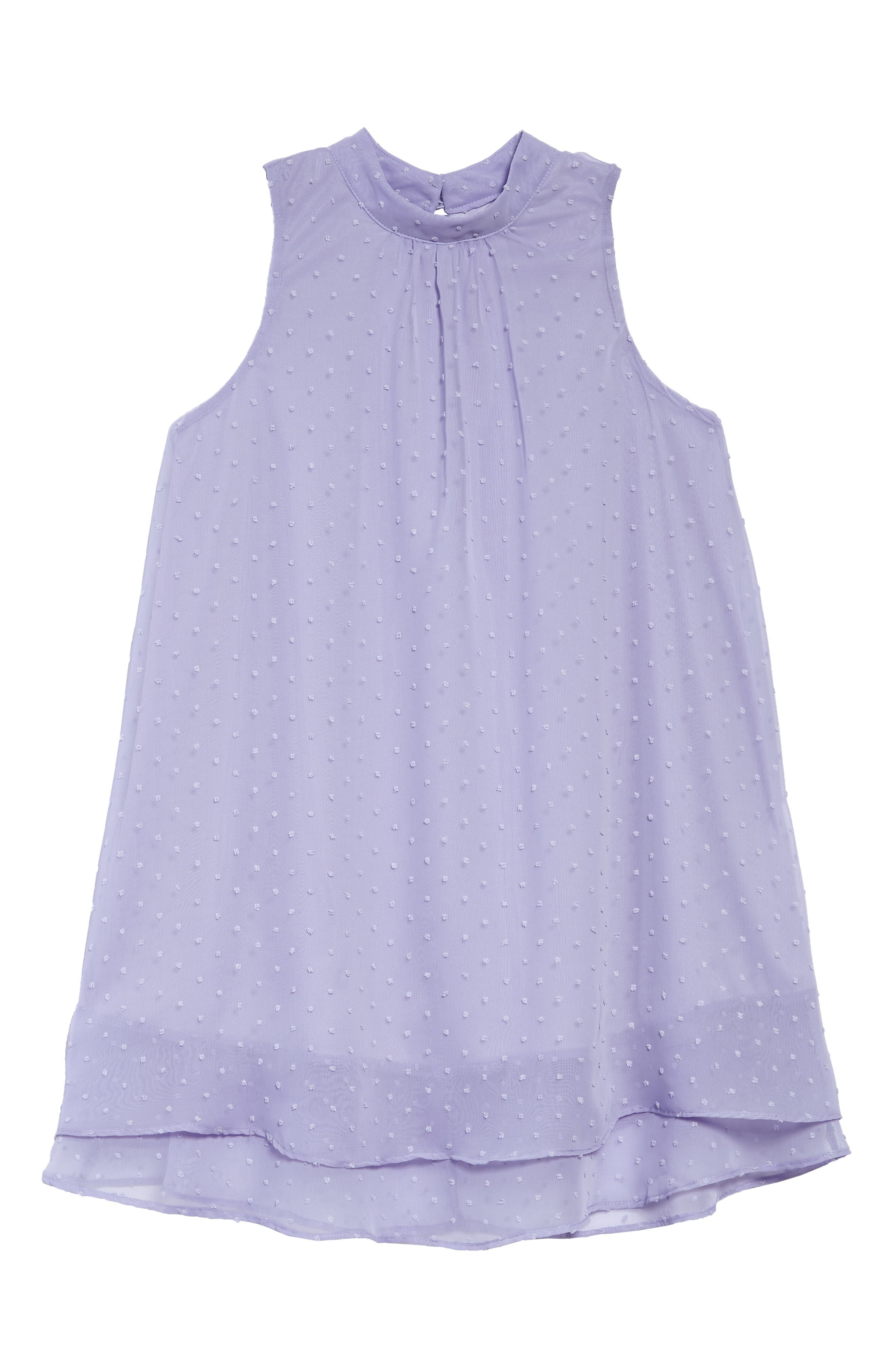 Swiss Dot Trapeze Dress,                             Main thumbnail 1, color,                             Periwinkle