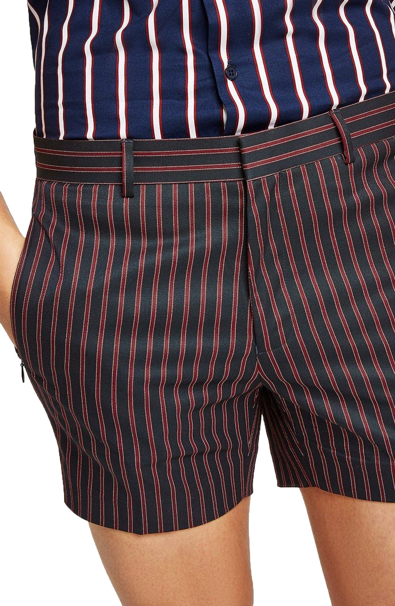 Stripe Shorts,                             Alternate thumbnail 3, color,                             Red