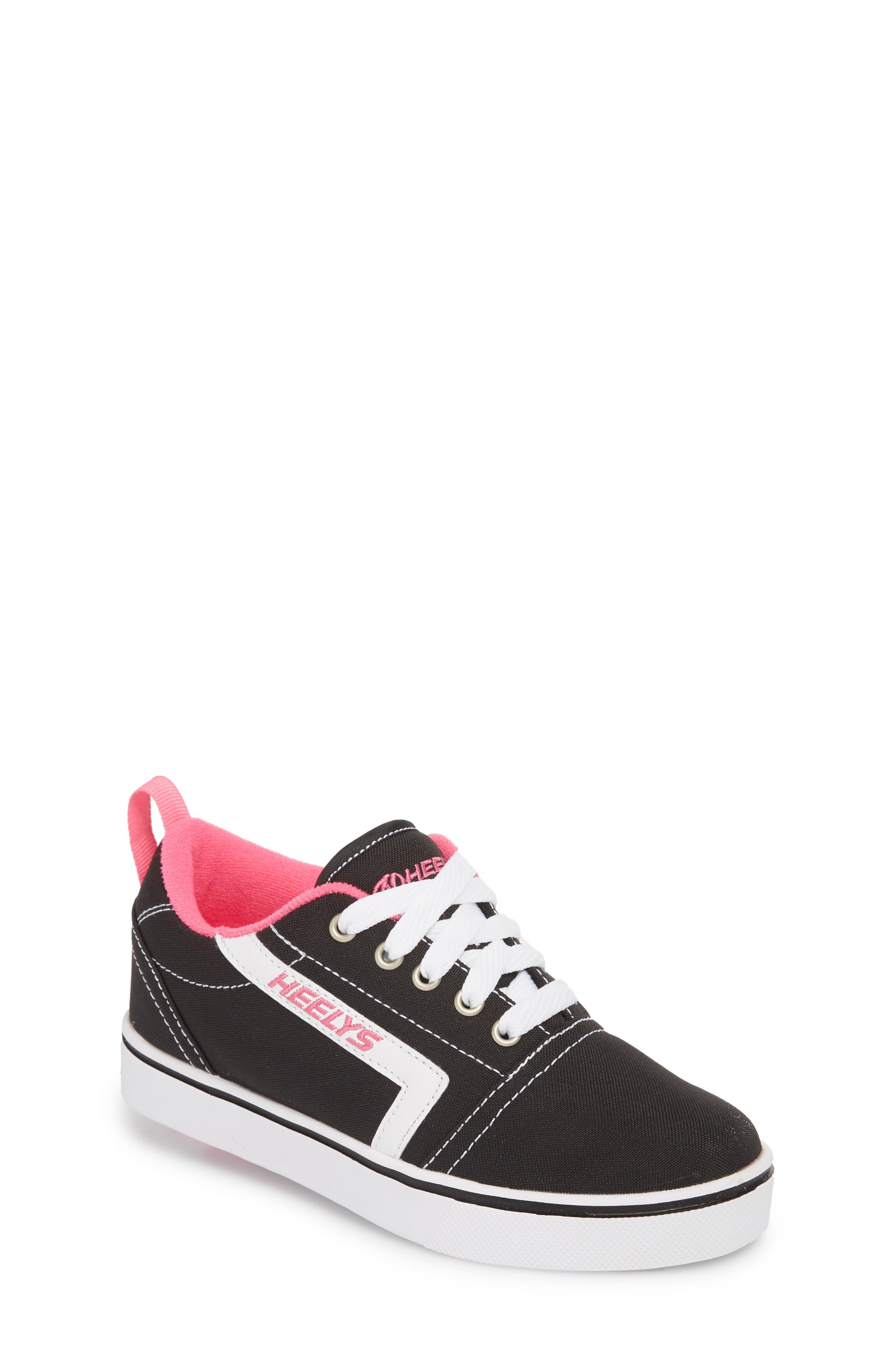 GR8 Pro Wheeled Sneaker,                             Main thumbnail 1, color,                             Black/ White/ Hot Pink