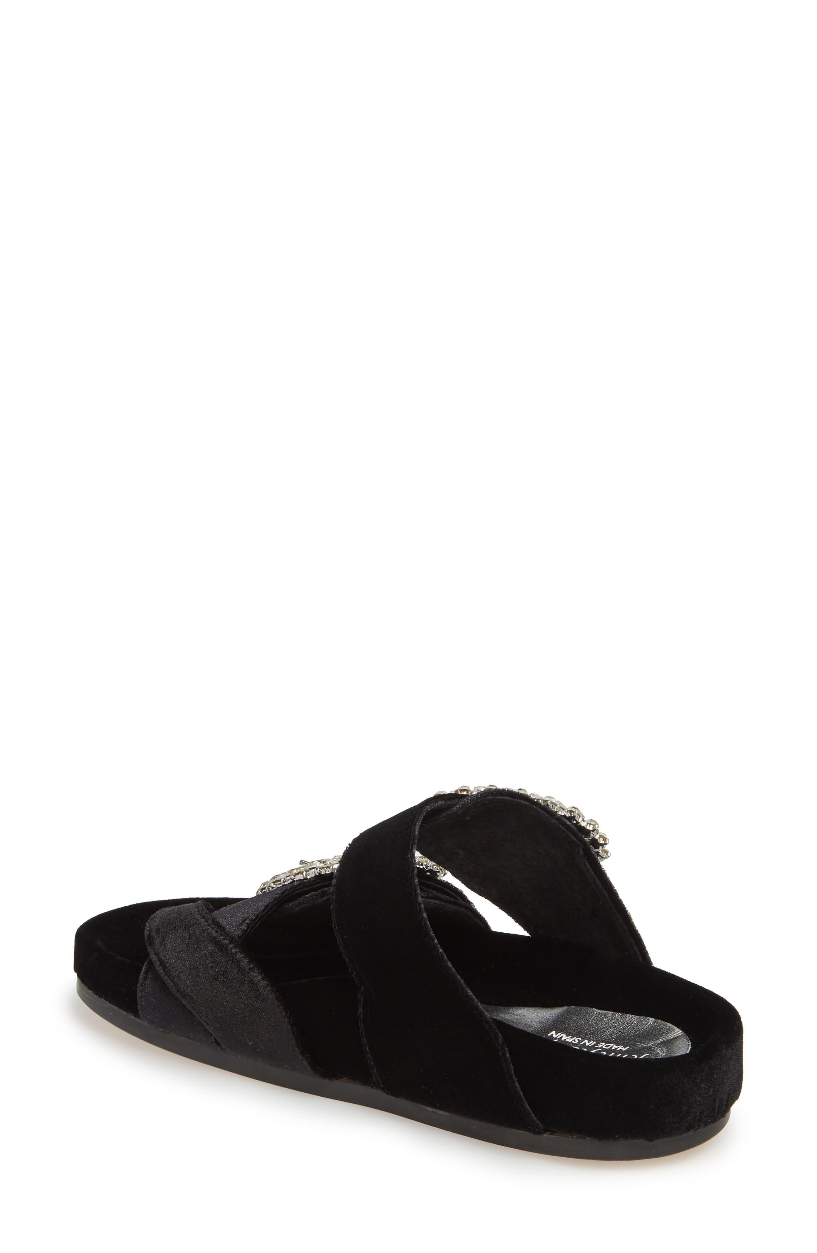 Maui2 Sandal,                             Alternate thumbnail 2, color,                             Black Velvet/ White