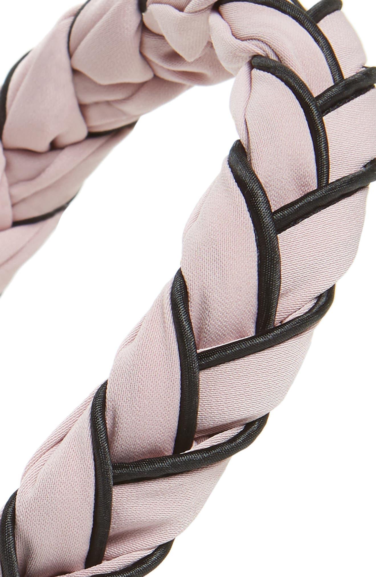 Twist Wrap Fabric Headband,                             Alternate thumbnail 2, color,                             Pink