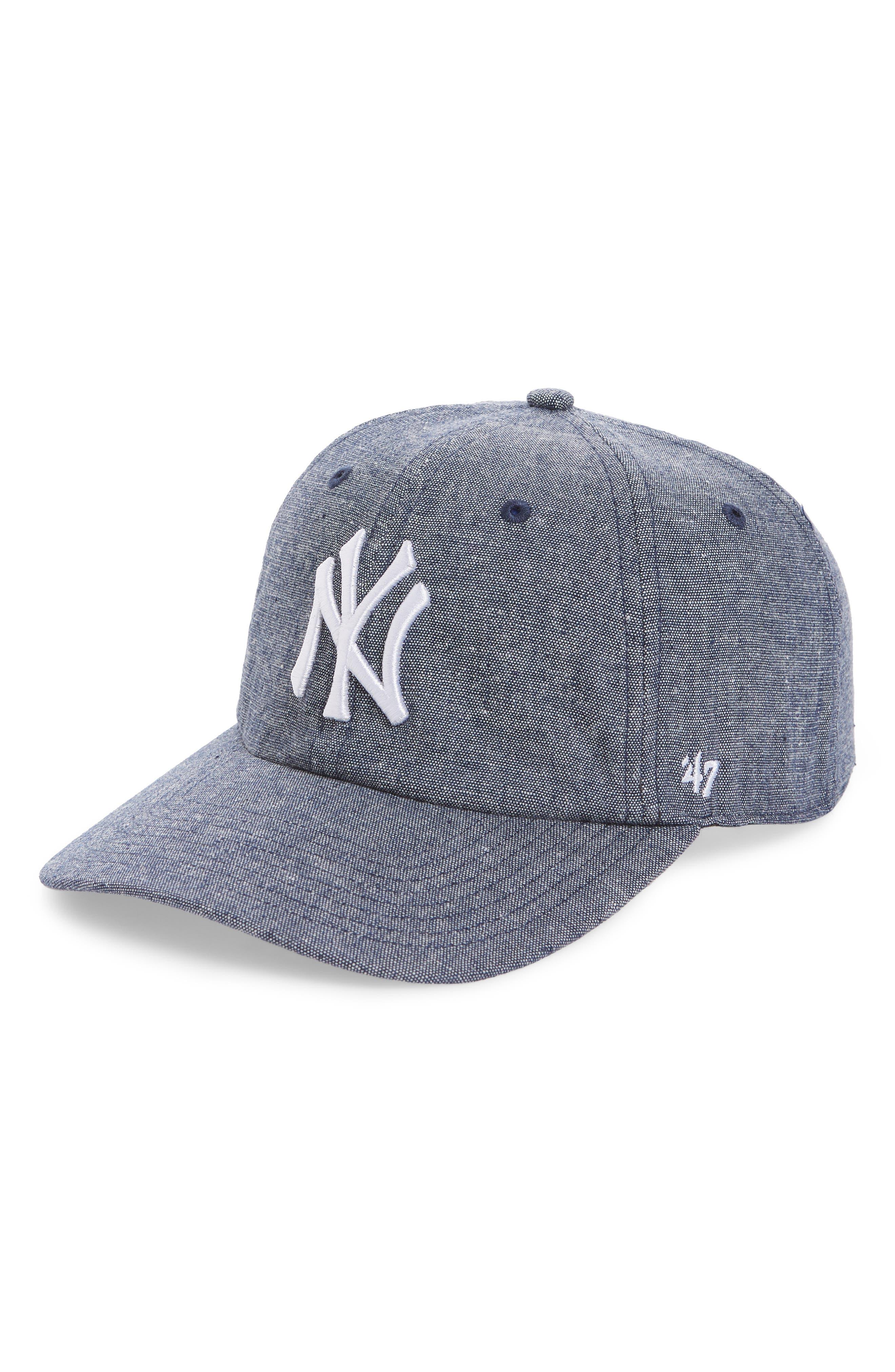 Emery Clean Up NY Yankees Baseball Cap,                             Main thumbnail 1, color,                             Navy