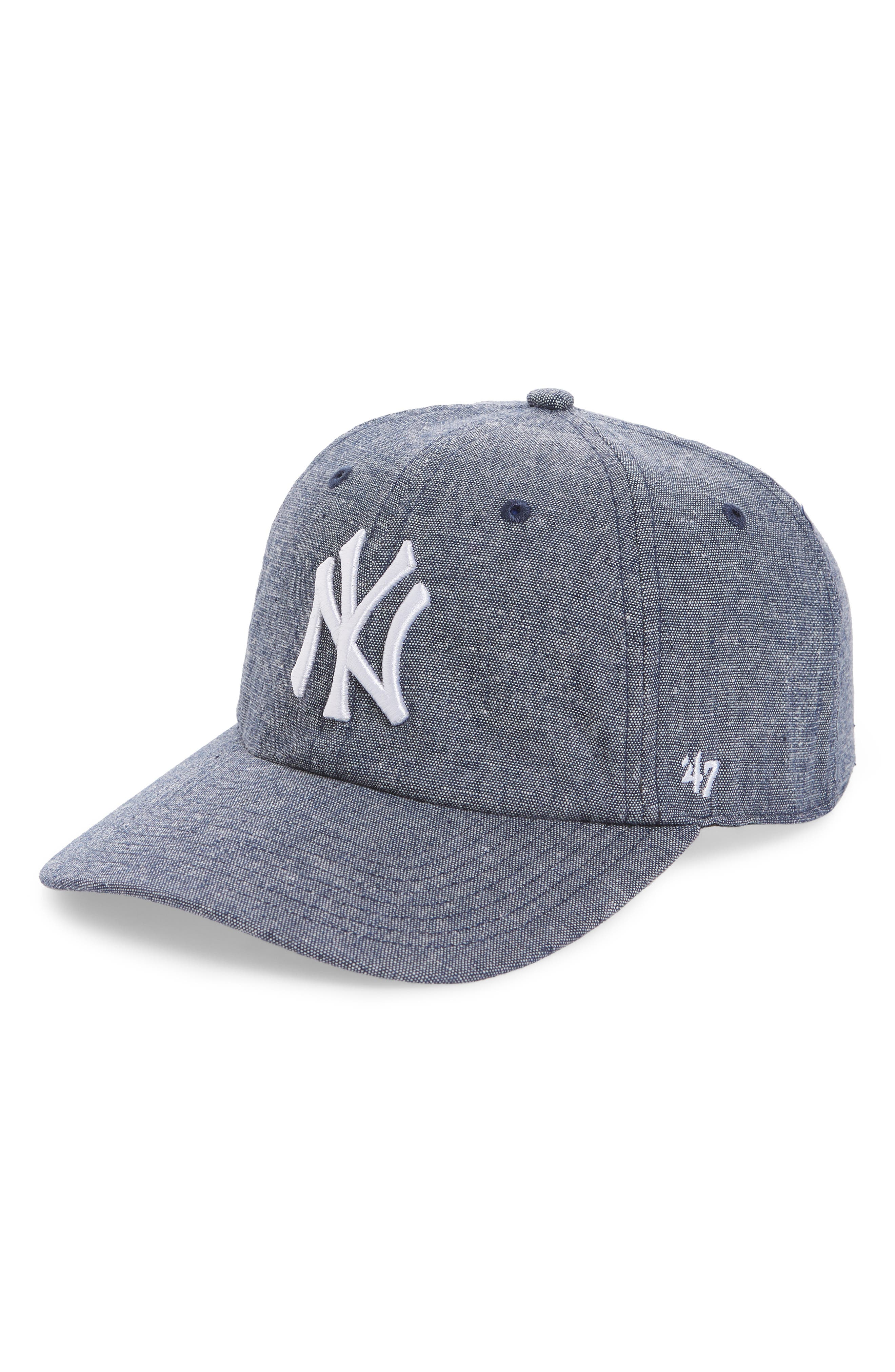 Emery Clean Up NY Yankees Baseball Cap,                         Main,                         color, Navy