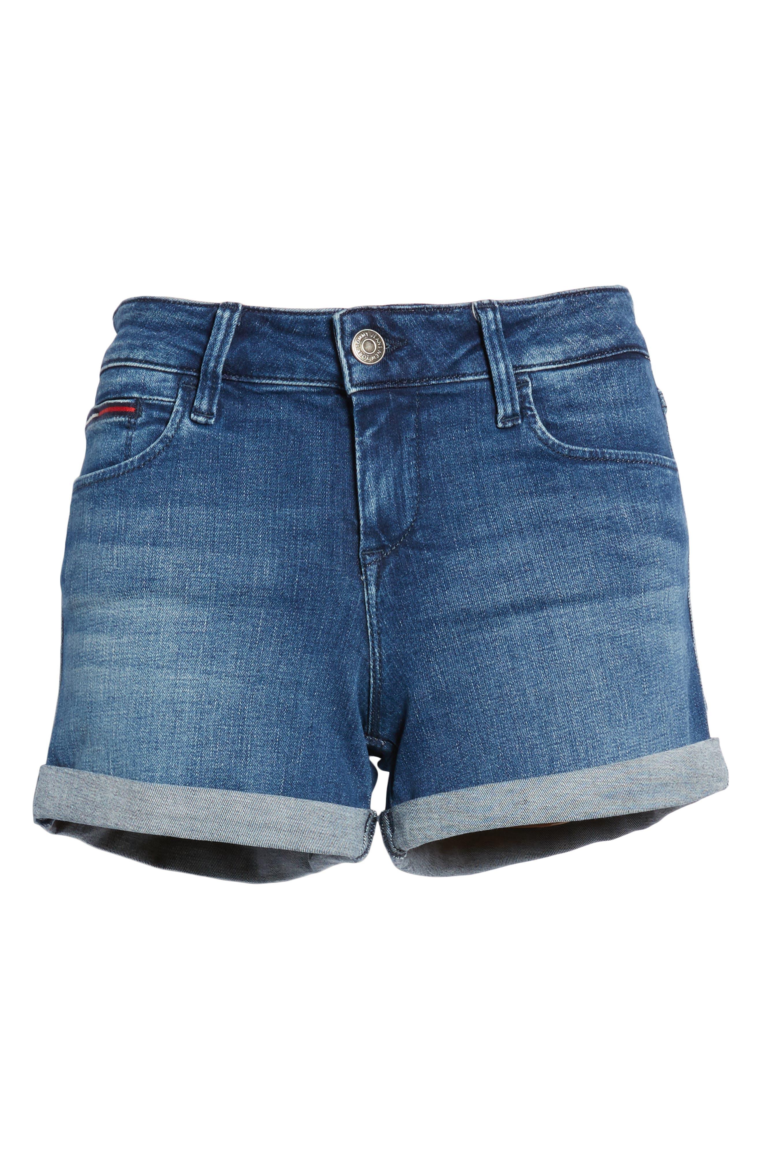 TJW Denim Shorts,                             Alternate thumbnail 7, color,                             Newport Blue