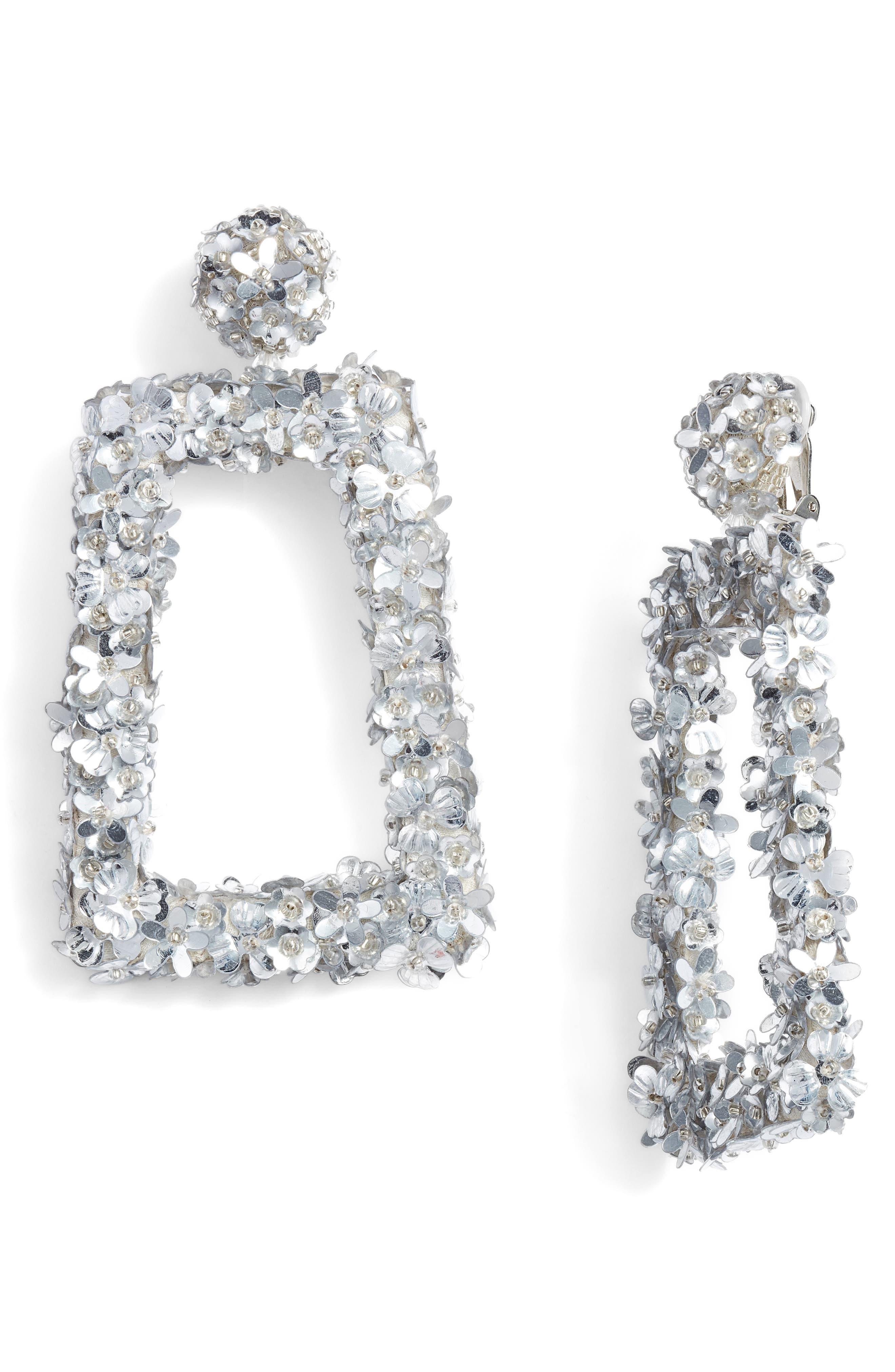 Fleur Dusk Earrings,                             Main thumbnail 1, color,                             Silver