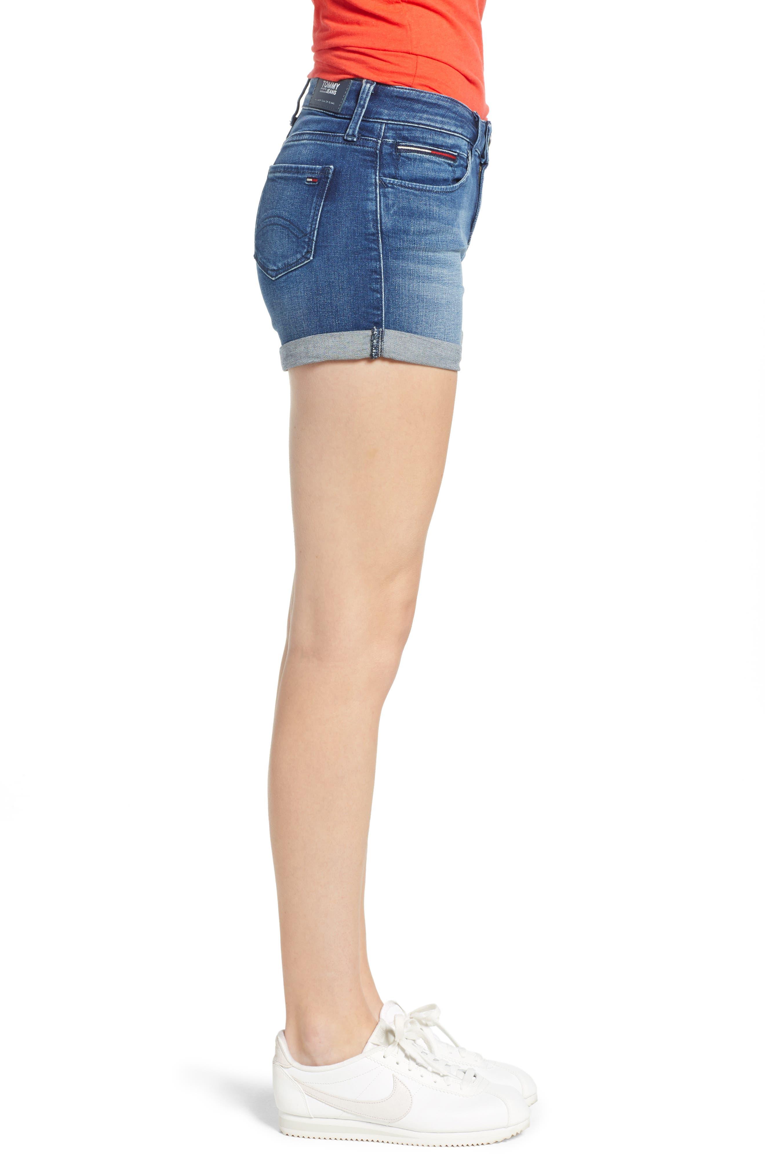 TJW Denim Shorts,                             Alternate thumbnail 4, color,                             Newport Blue