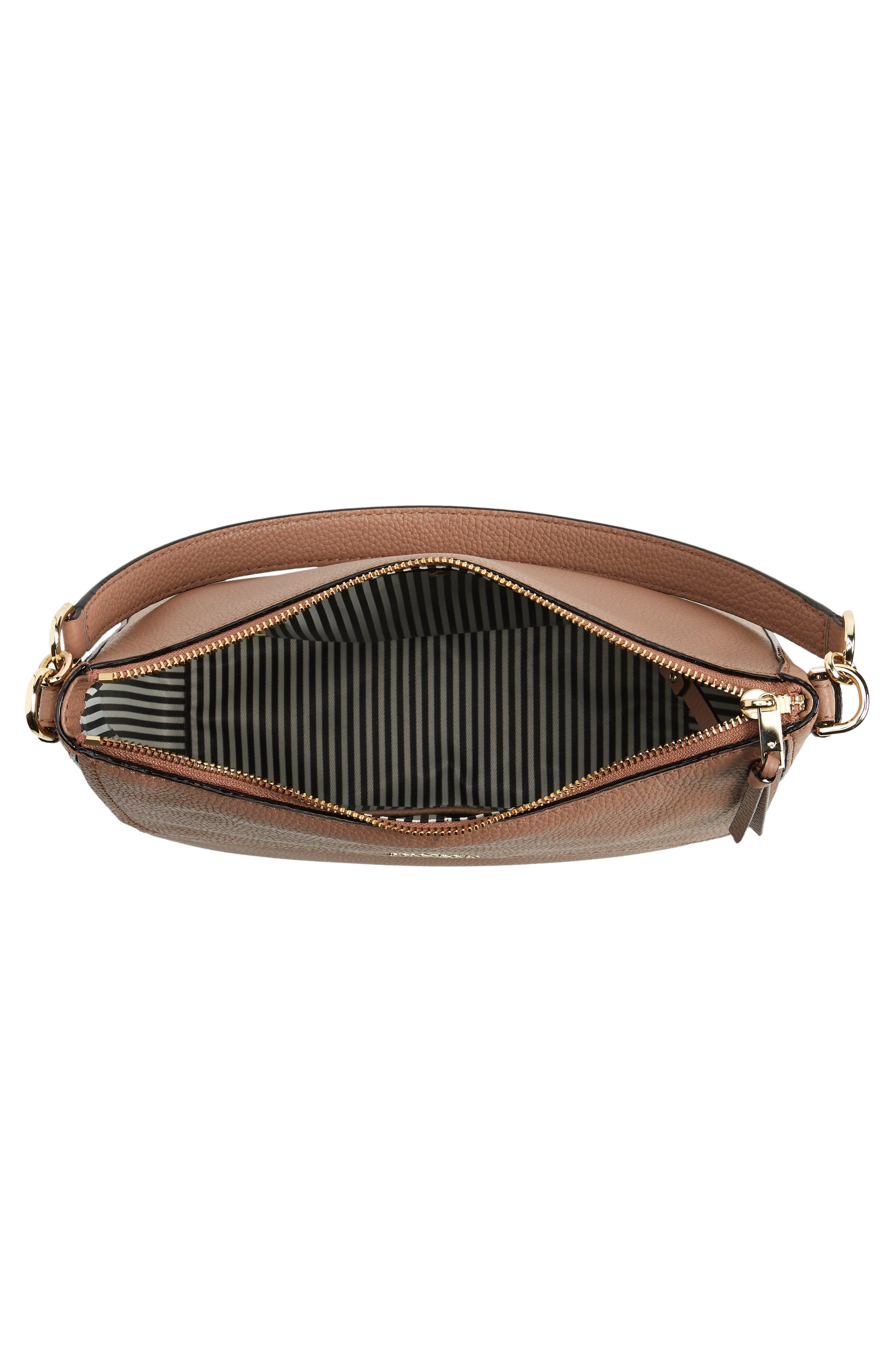 jackson street - colette leather satchel,                             Alternate thumbnail 4, color,                             Toasty