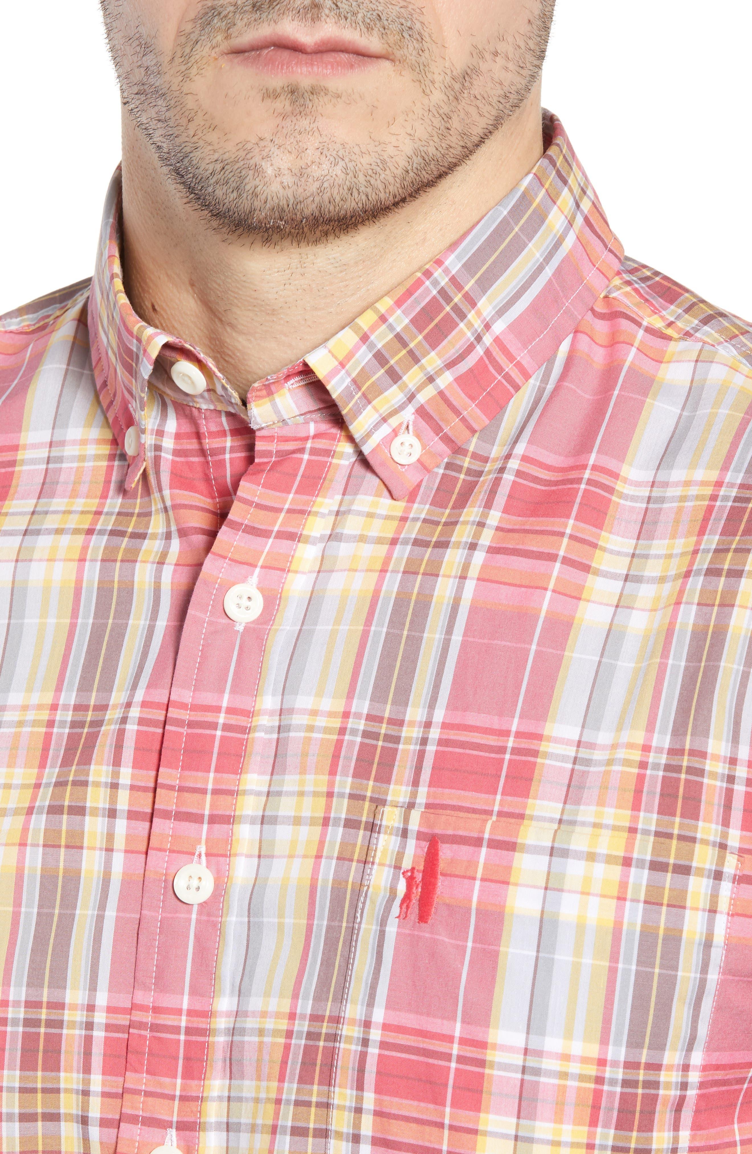 Glenn Classic Fit Plaid Sport Shirt,                             Alternate thumbnail 2, color,                             Calypso
