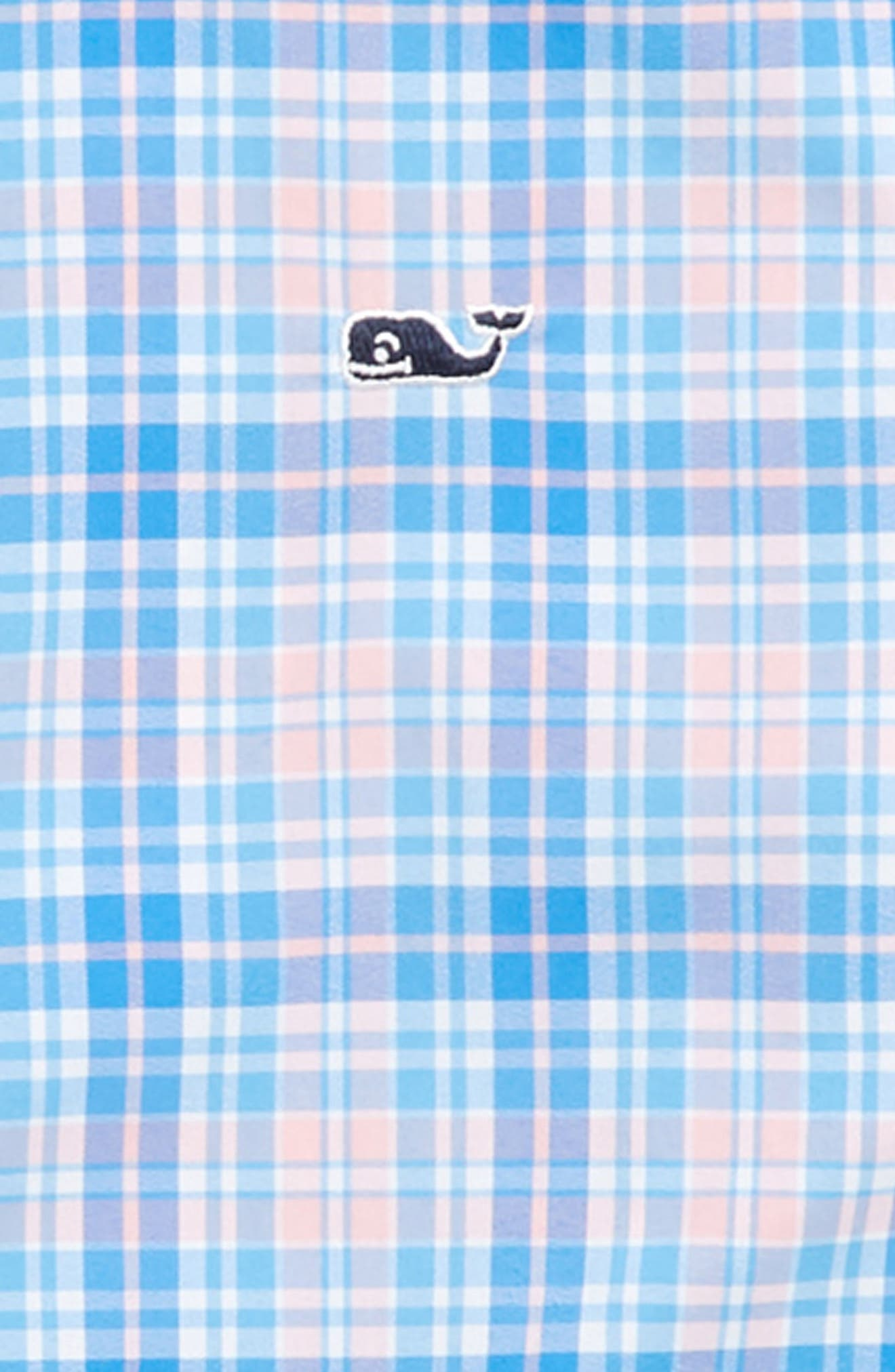 Stoney Hill Plaid Whale Shirt,                             Alternate thumbnail 2, color,                             Hibiscus