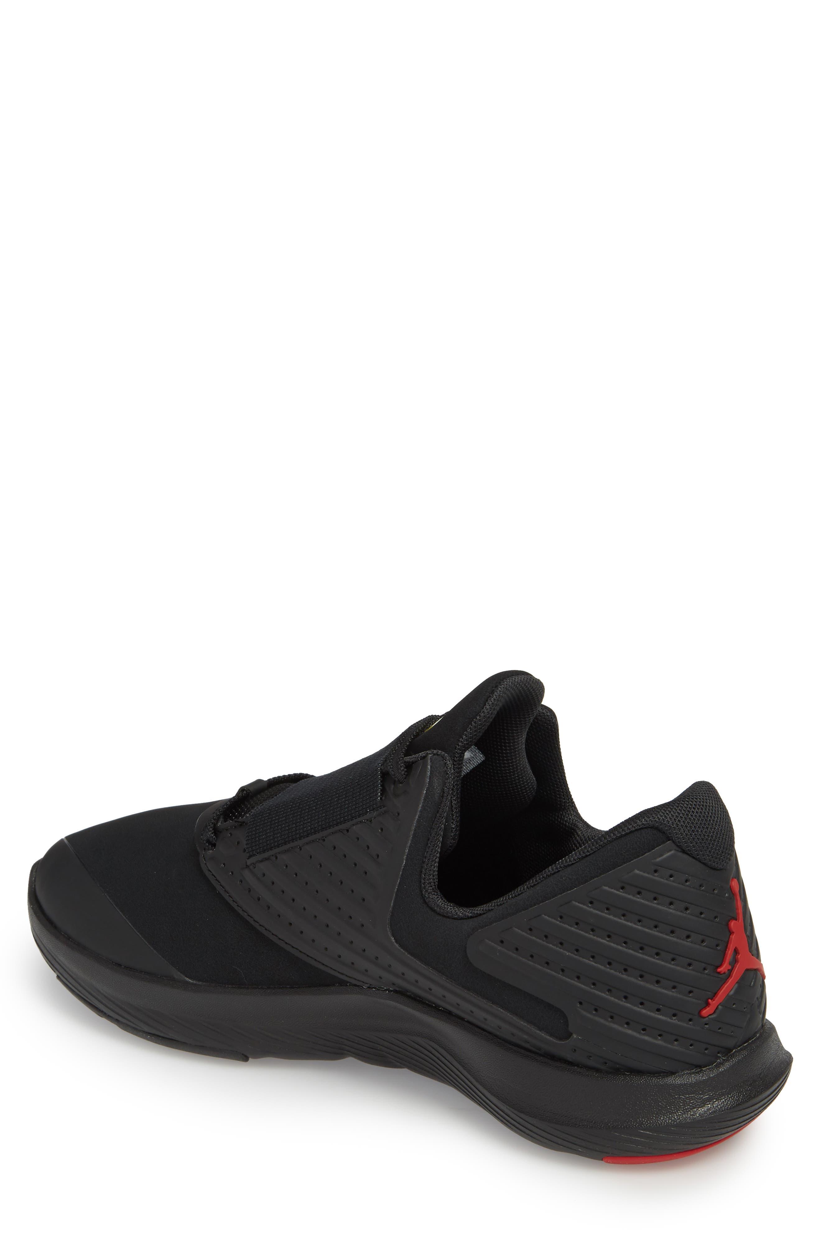 Air Jordan Relentless Training Sneaker,                             Alternate thumbnail 2, color,                             Black/ Varsity Red/ Dandelion