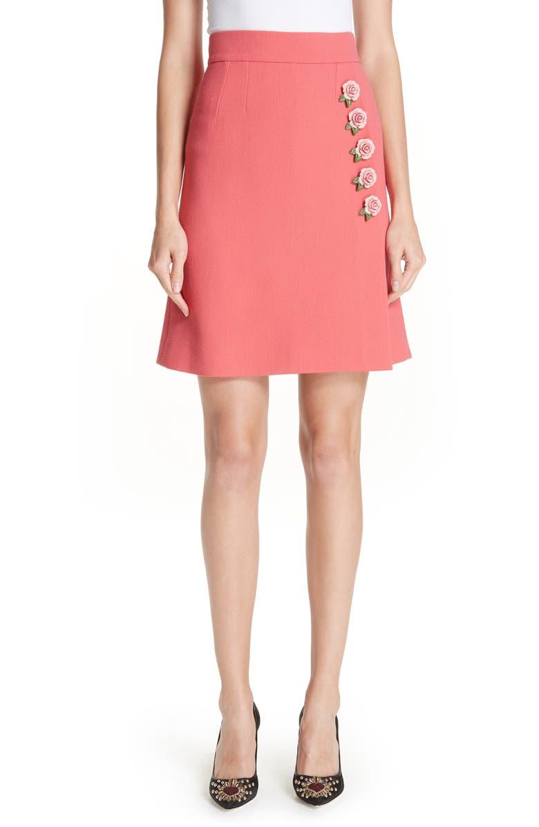 Rose Button Skirt