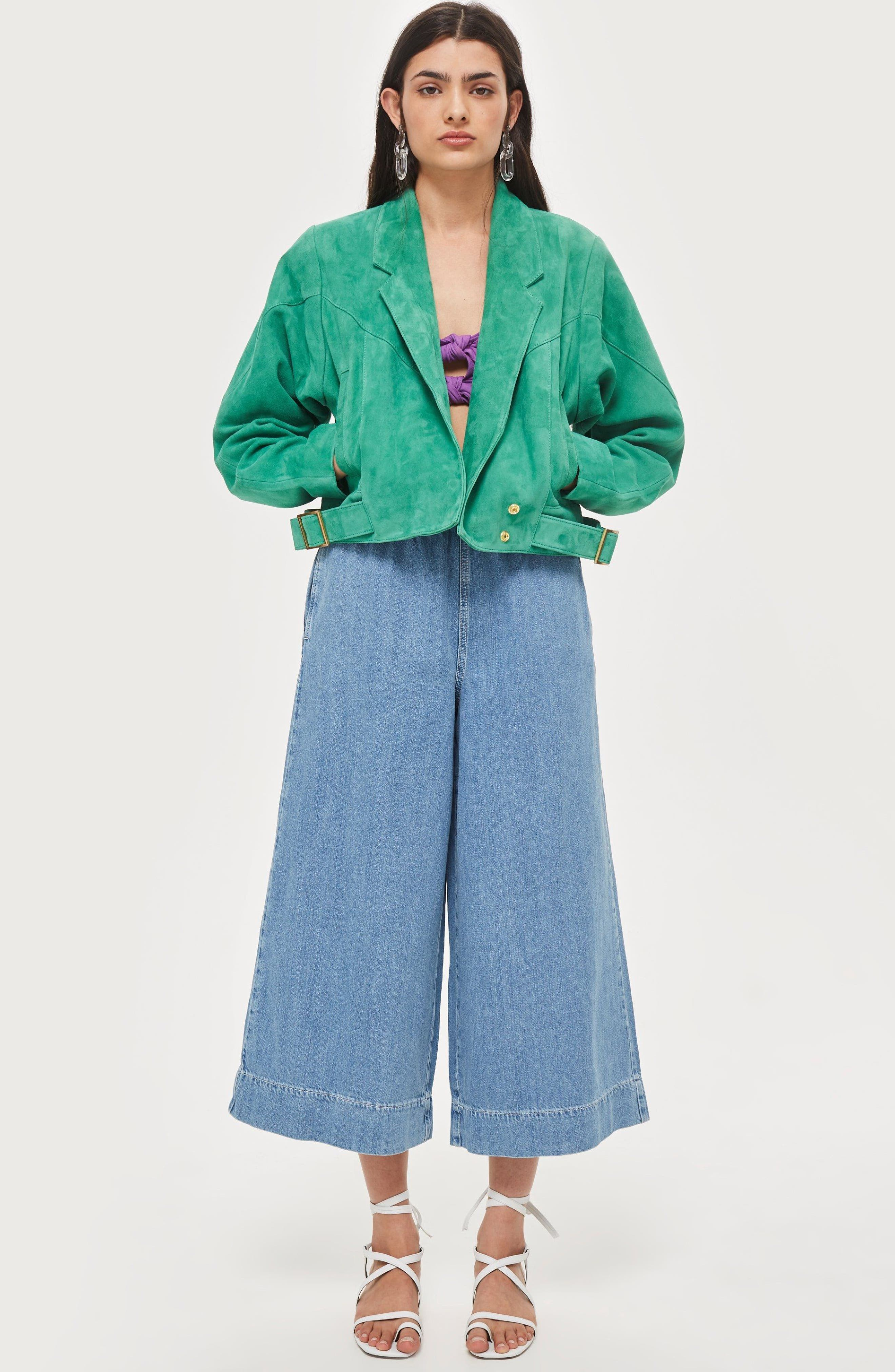 Hawkes Suede Jacket,                             Alternate thumbnail 2, color,                             Green