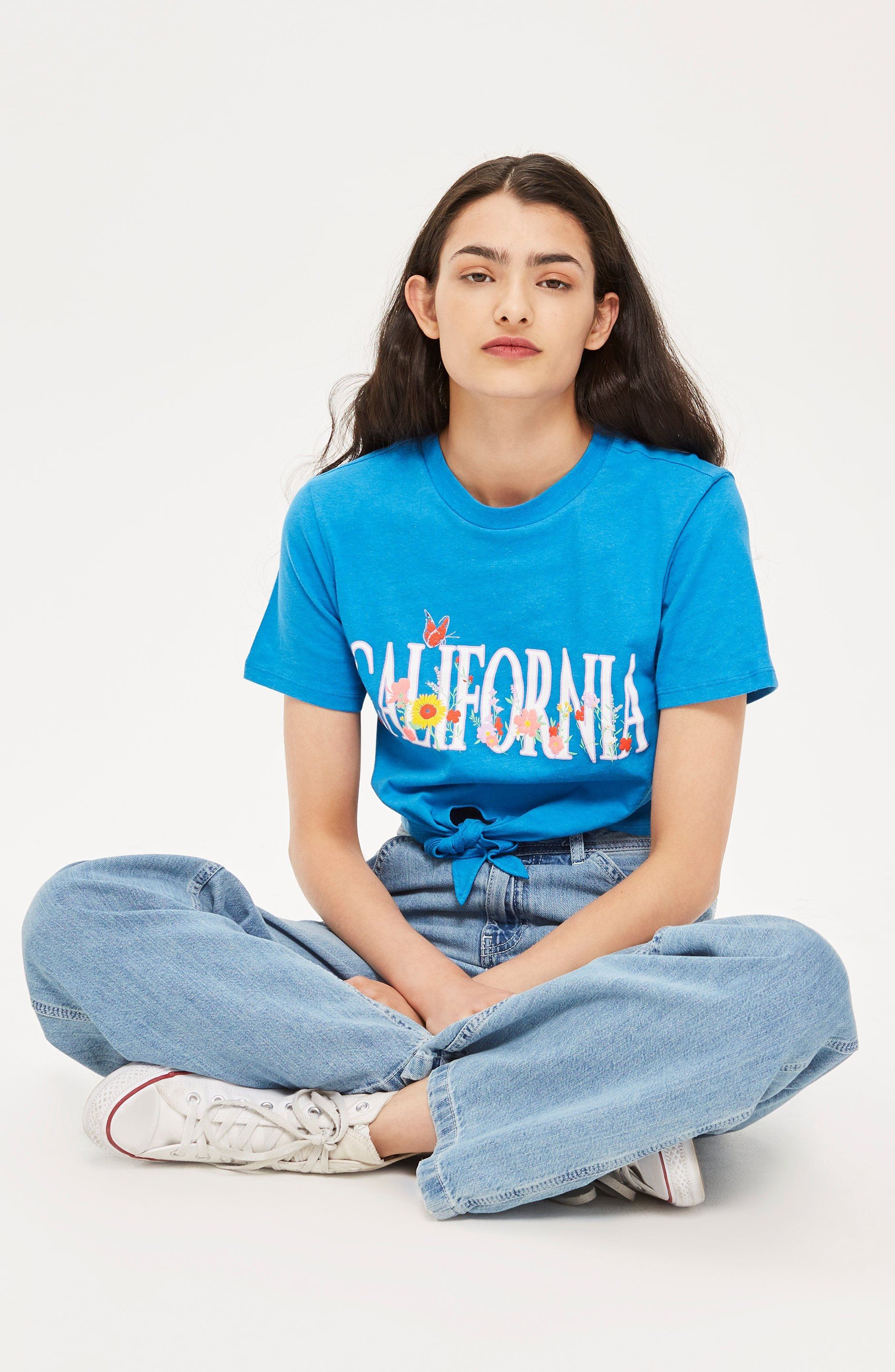 California Crop Tee,                             Alternate thumbnail 2, color,                             Blue Multi