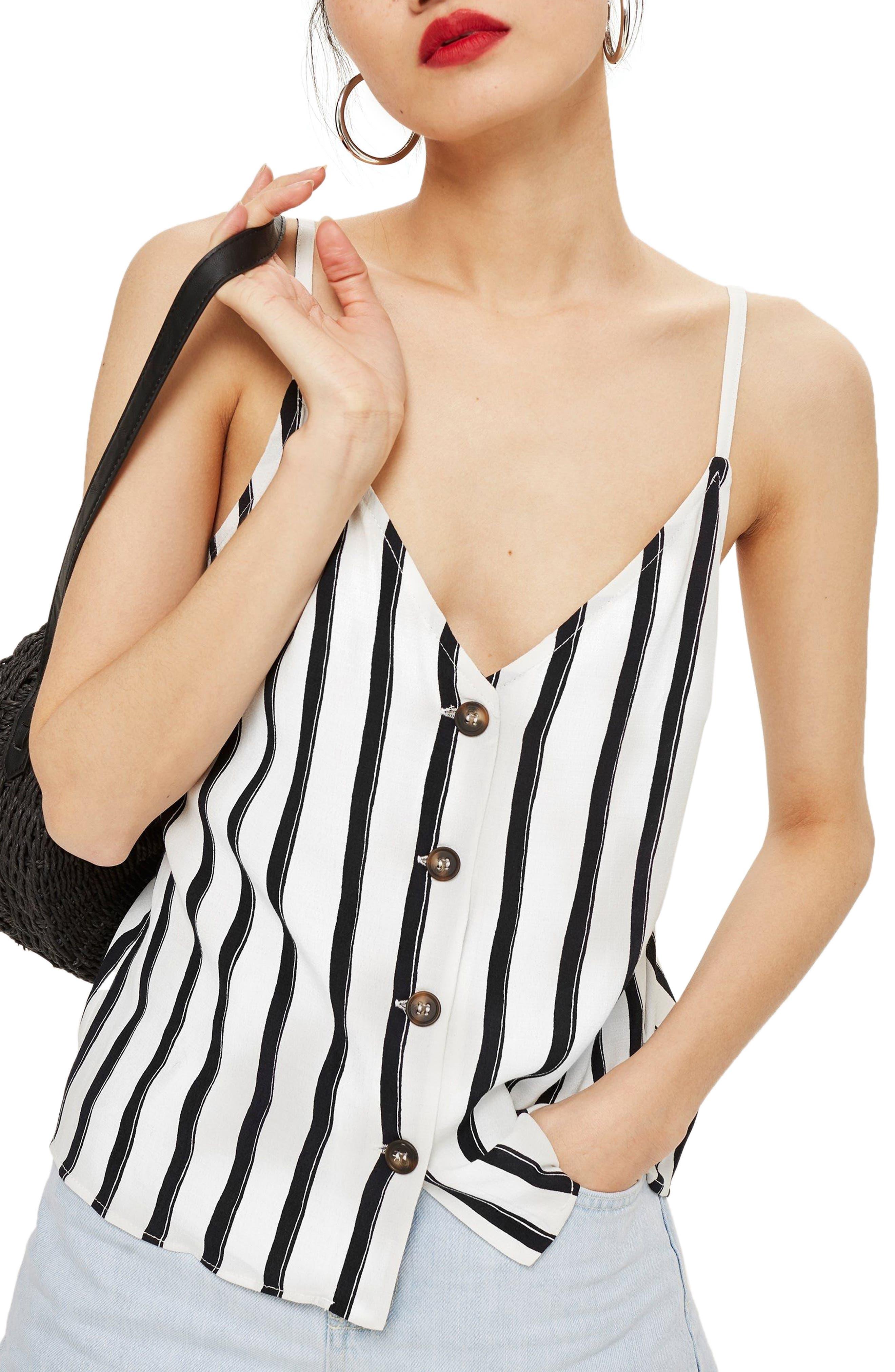 Stripe Camisole,                             Main thumbnail 1, color,                             White Multi