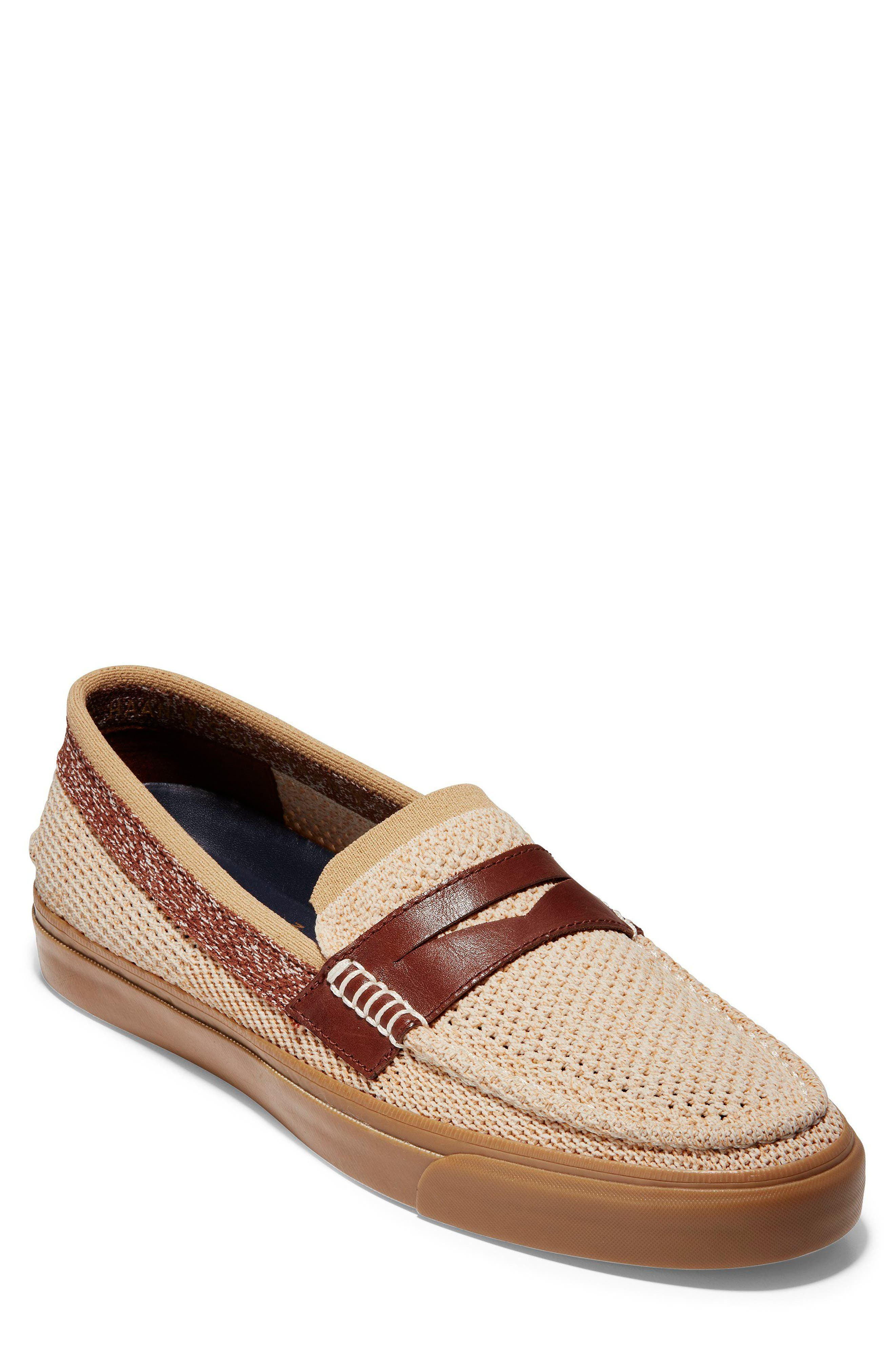 Pinch Weekend Stitch Penny Loafer,                             Main thumbnail 1, color,                             Iced Coffee/ Sand/ Woodbury