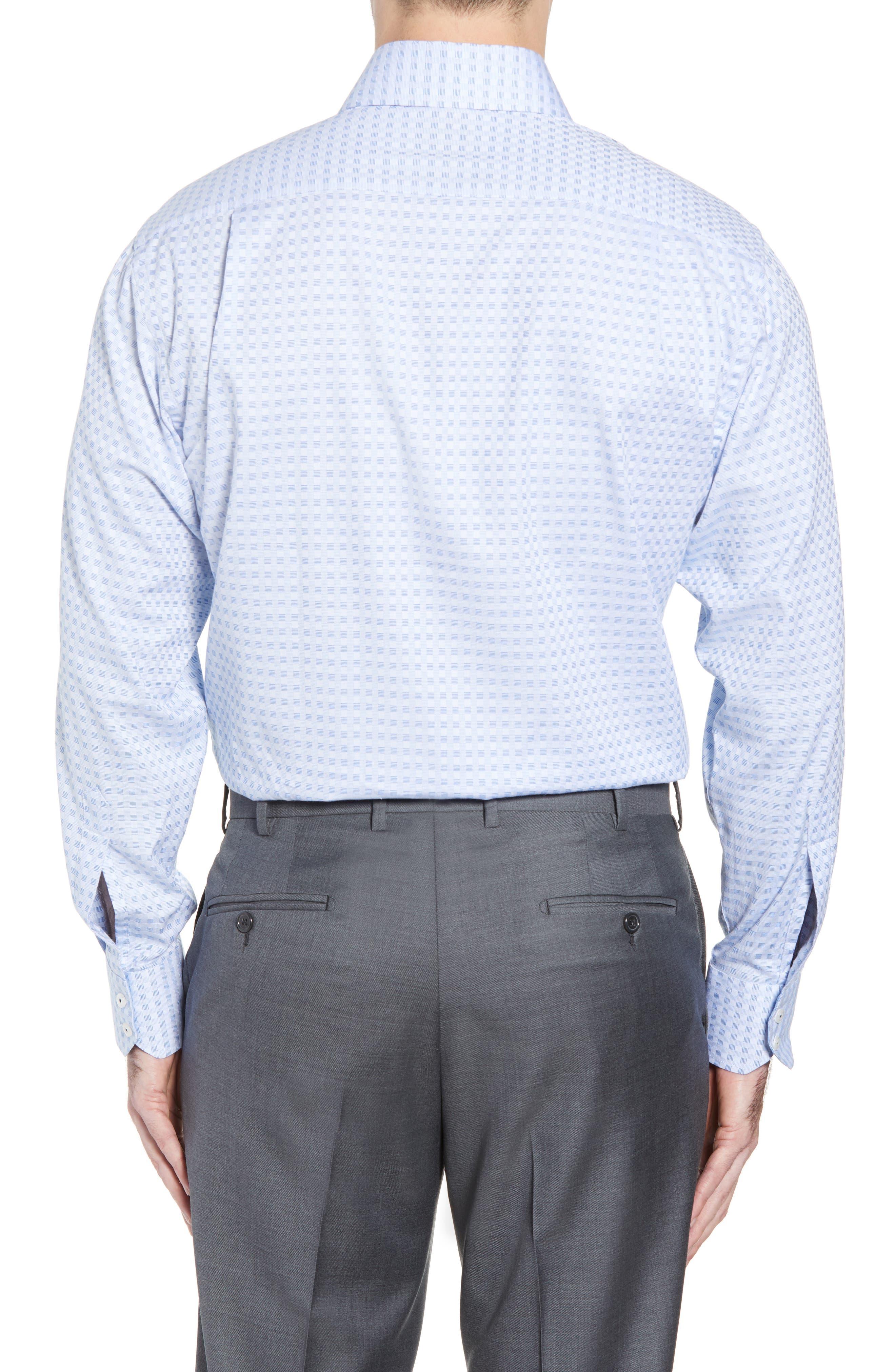 Check Regular Fit Dress Shirt,                             Alternate thumbnail 3, color,                             Blue