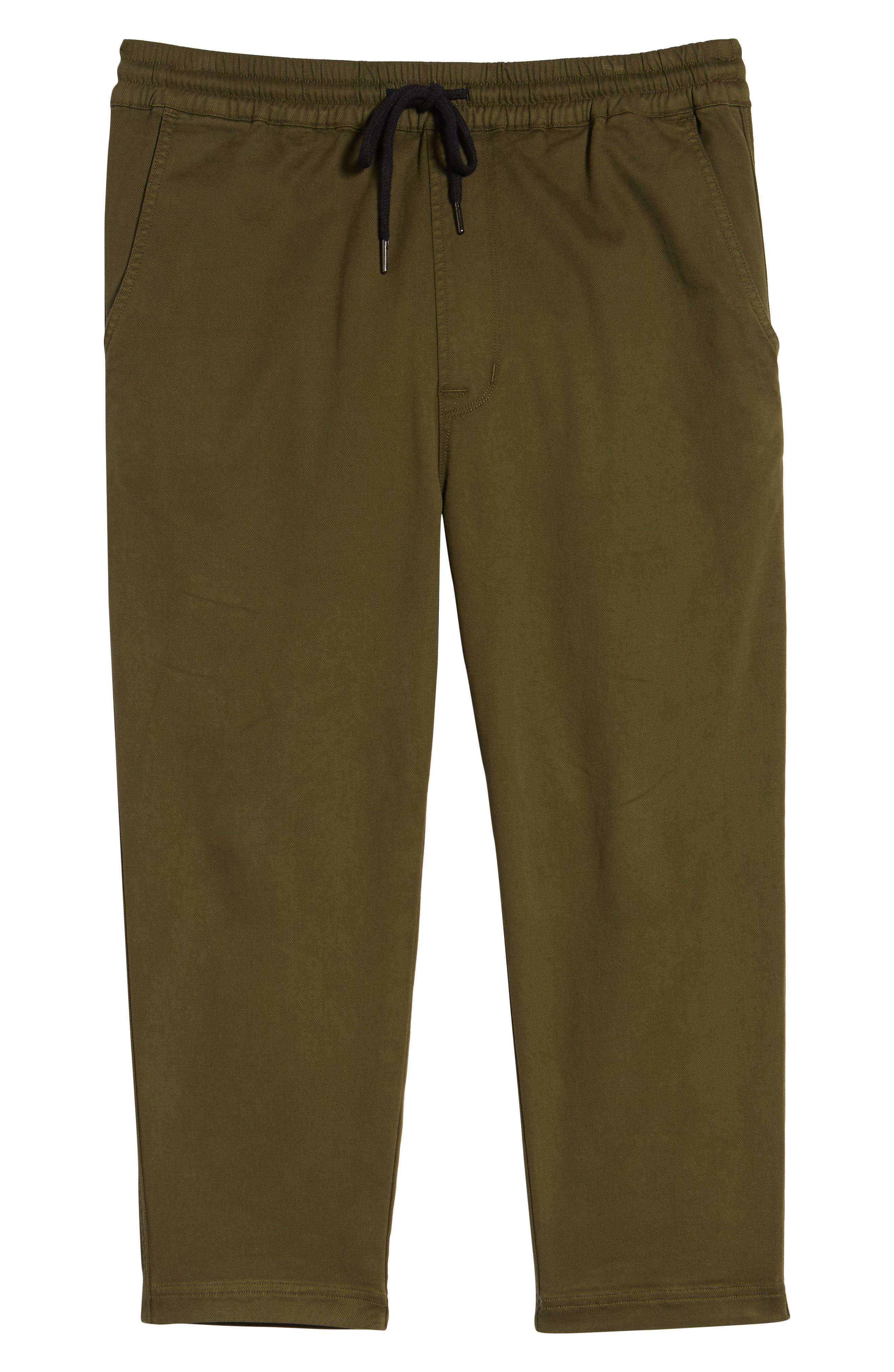 Hudson Leo Drop Crotch Pants,                             Alternate thumbnail 5, color,                             Olive