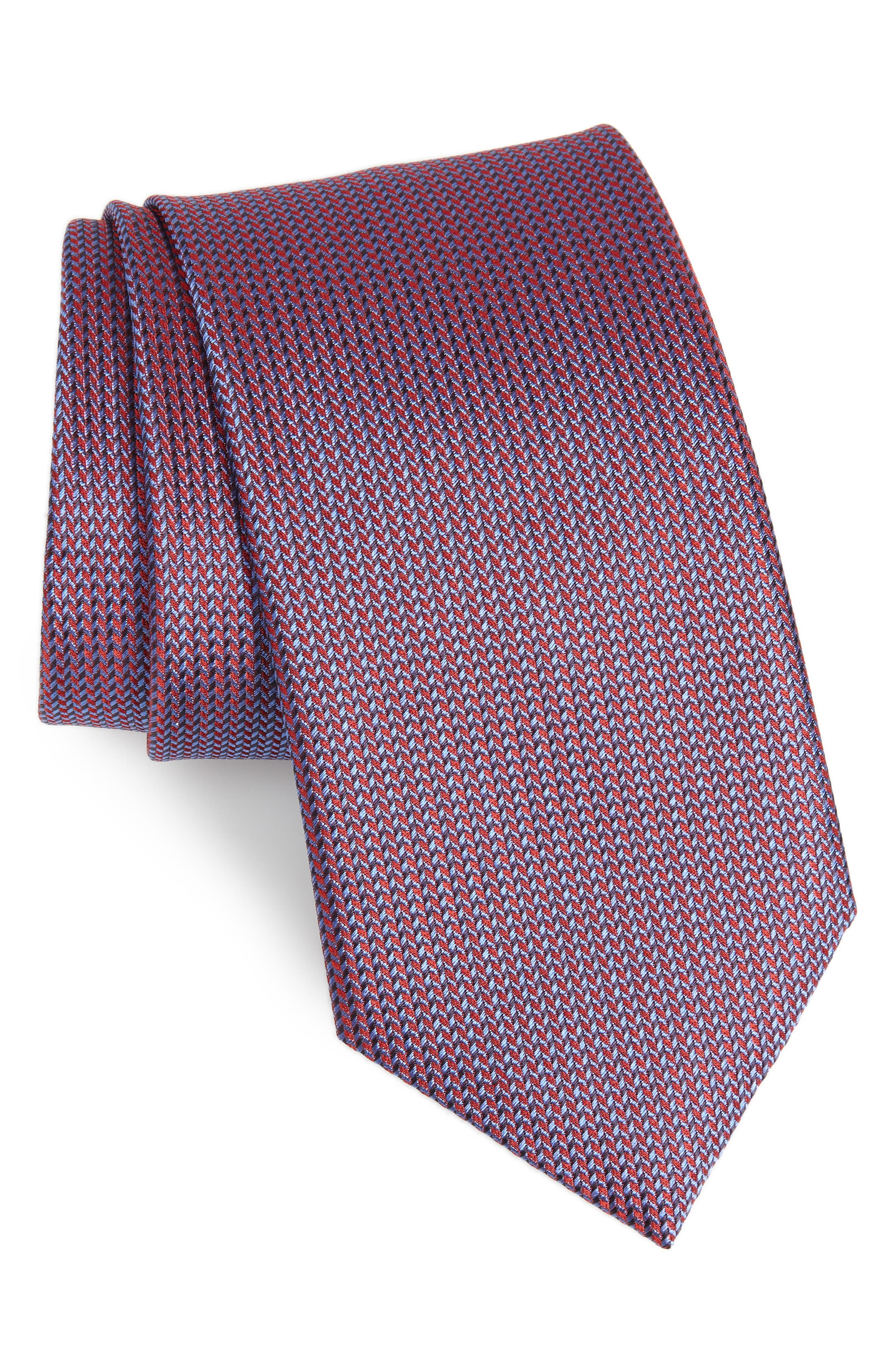 Solid Silk Tie,                             Main thumbnail 1, color,                             Red