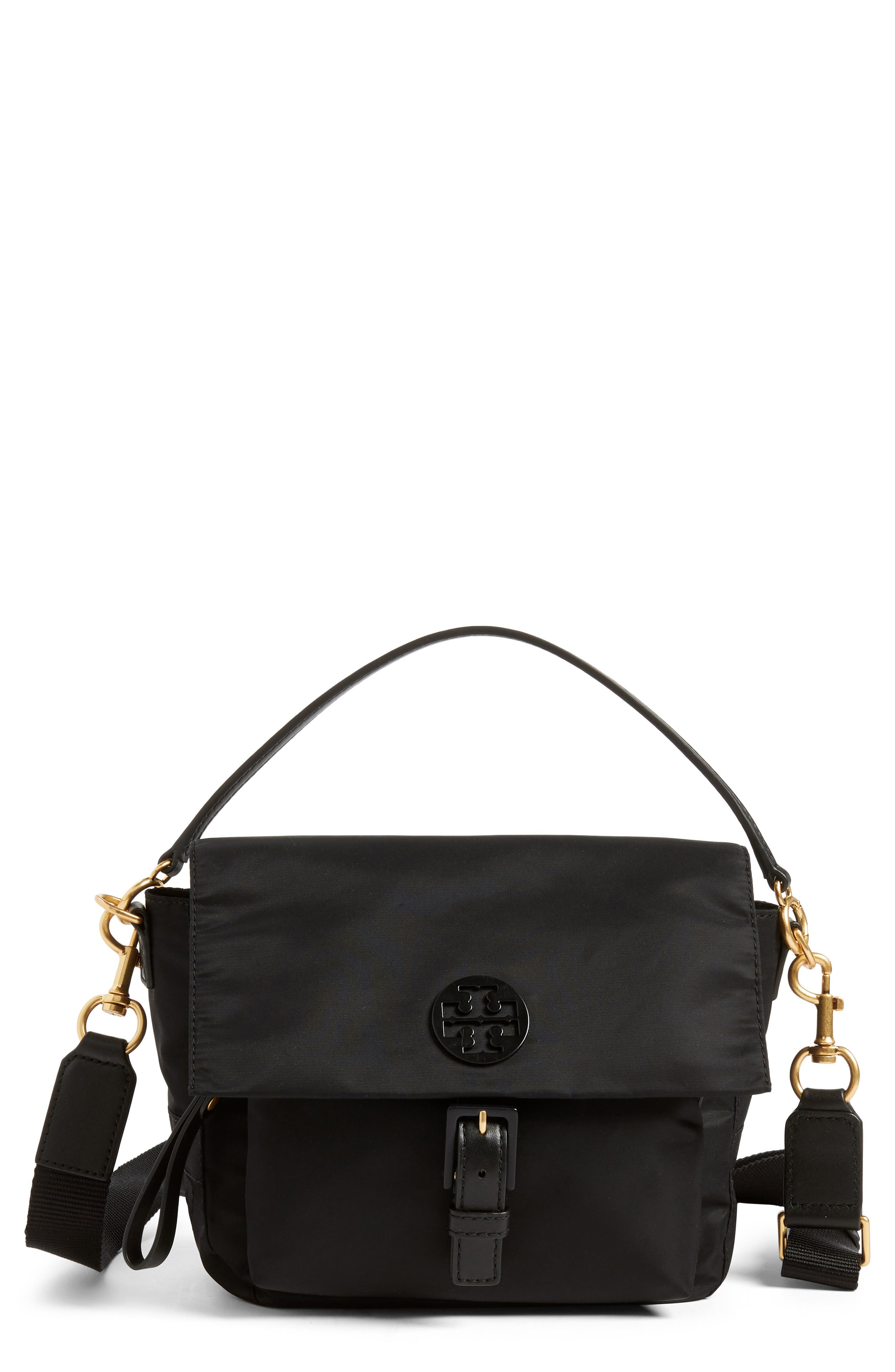 Tilda Nylon Crossbody Bag,                         Main,                         color, Black
