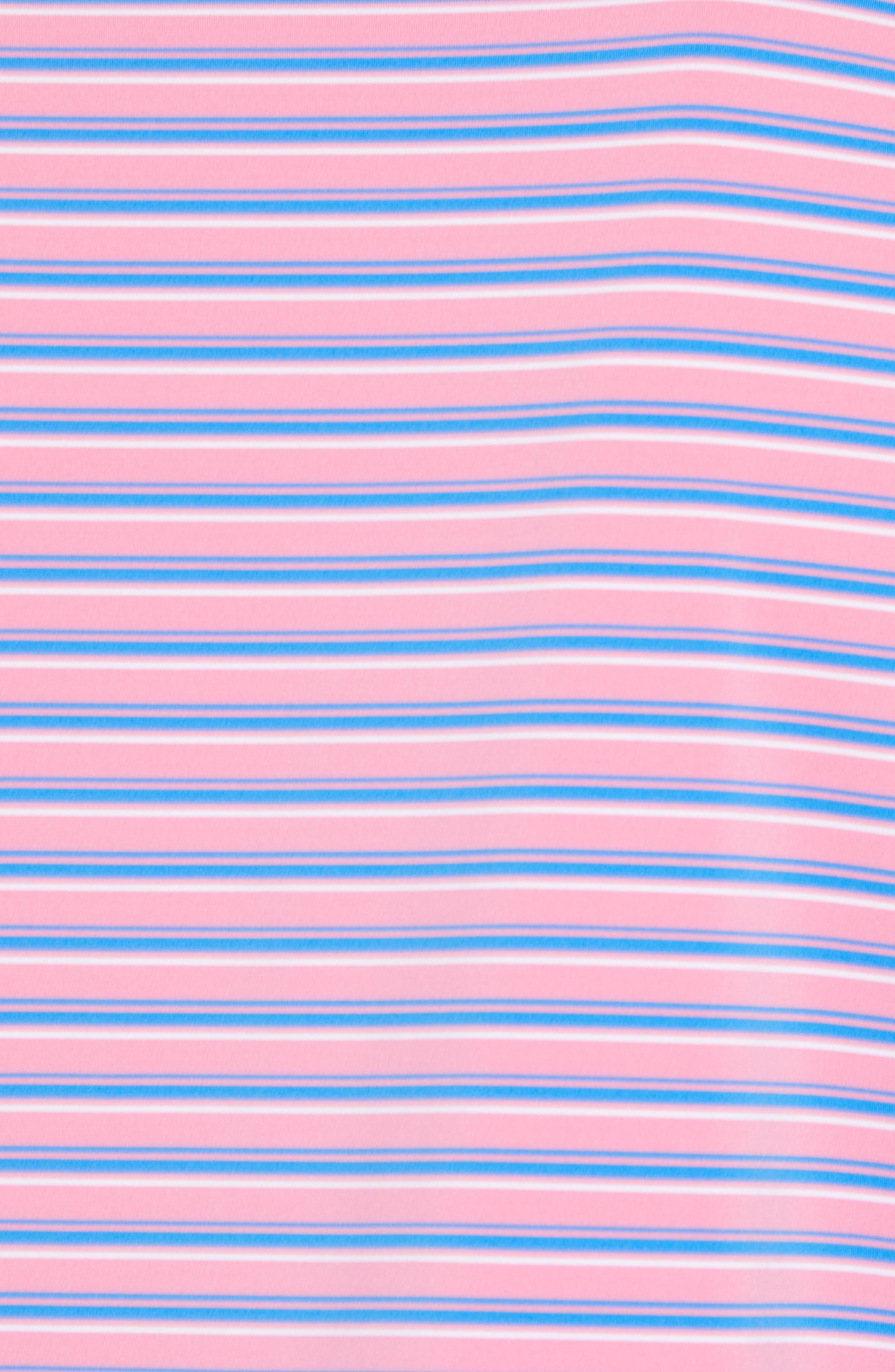 Sankaty Stripe Performance Polo,                             Alternate thumbnail 6, color,                             Cupcake