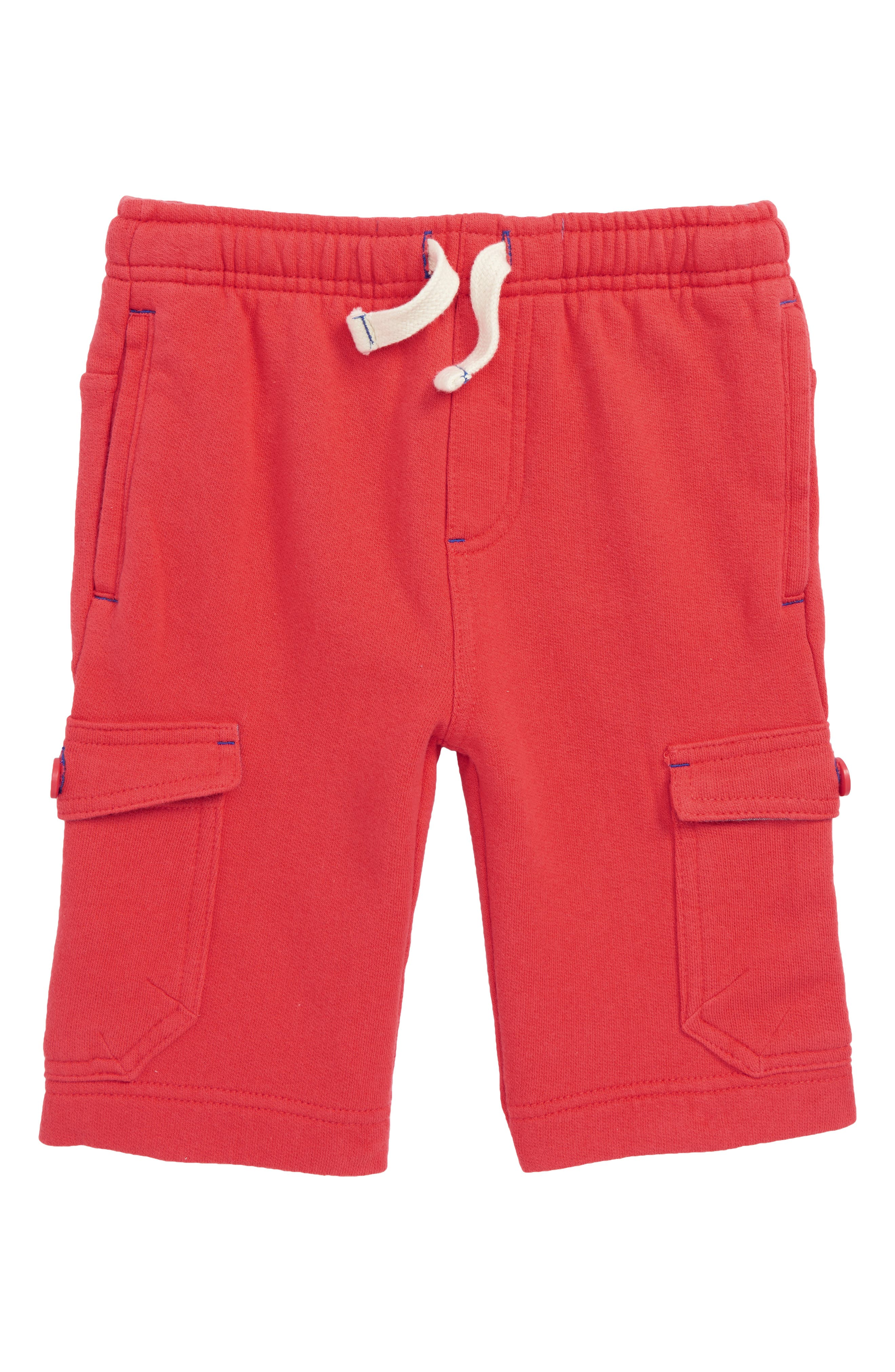 Jersey Cargo Shorts,                         Main,                         color, Jam Red
