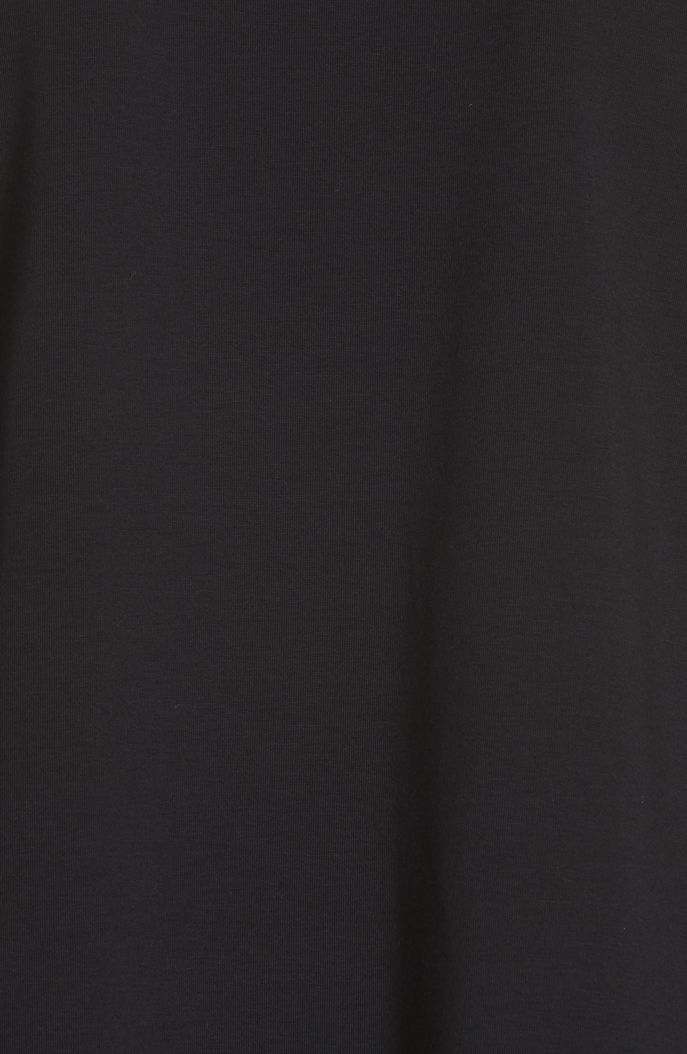 Knit Pocket Top,                             Alternate thumbnail 3, color,                             Black
