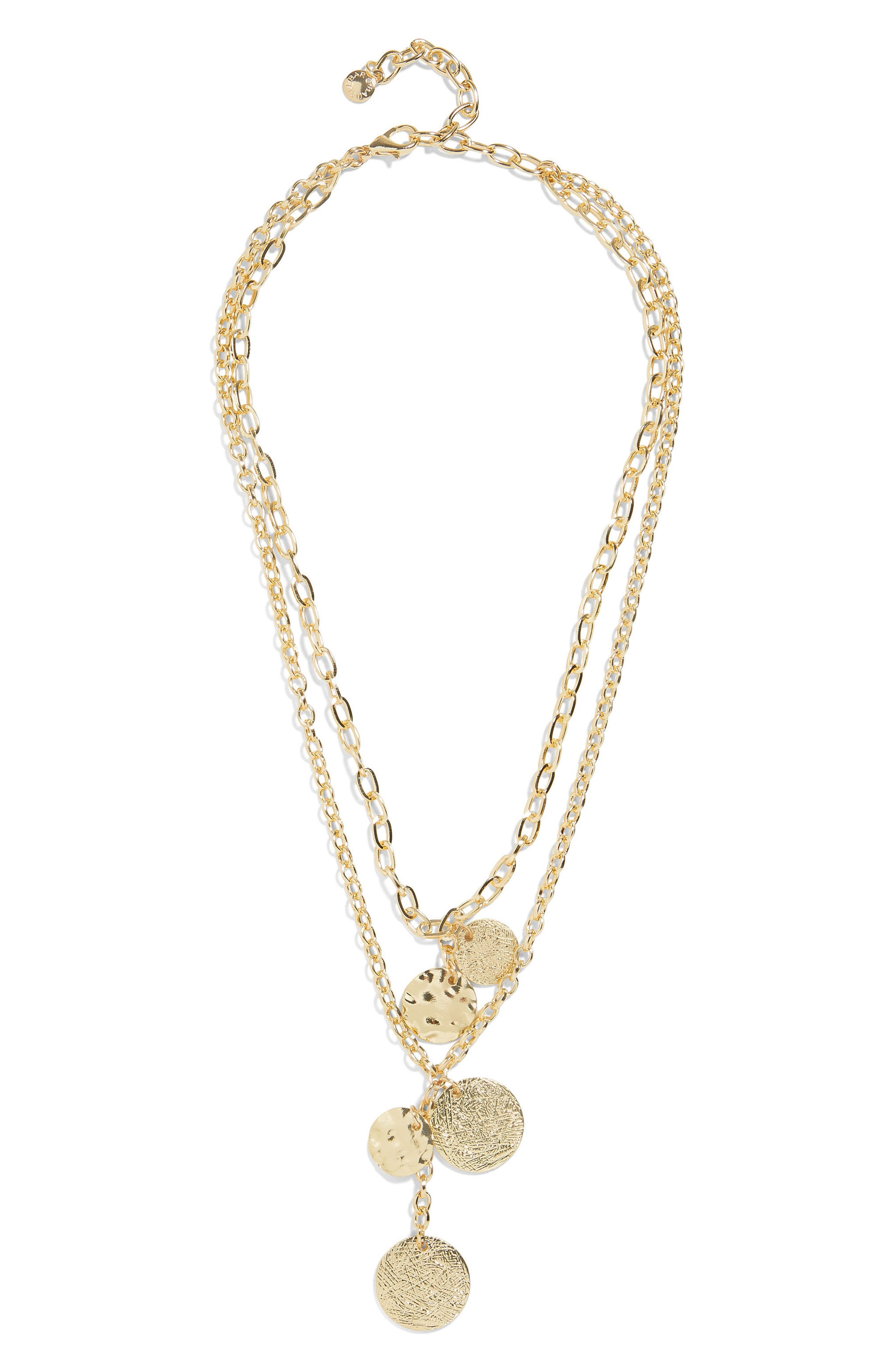 Talia Layered Pendant Necklace,                             Main thumbnail 1, color,                             Gold