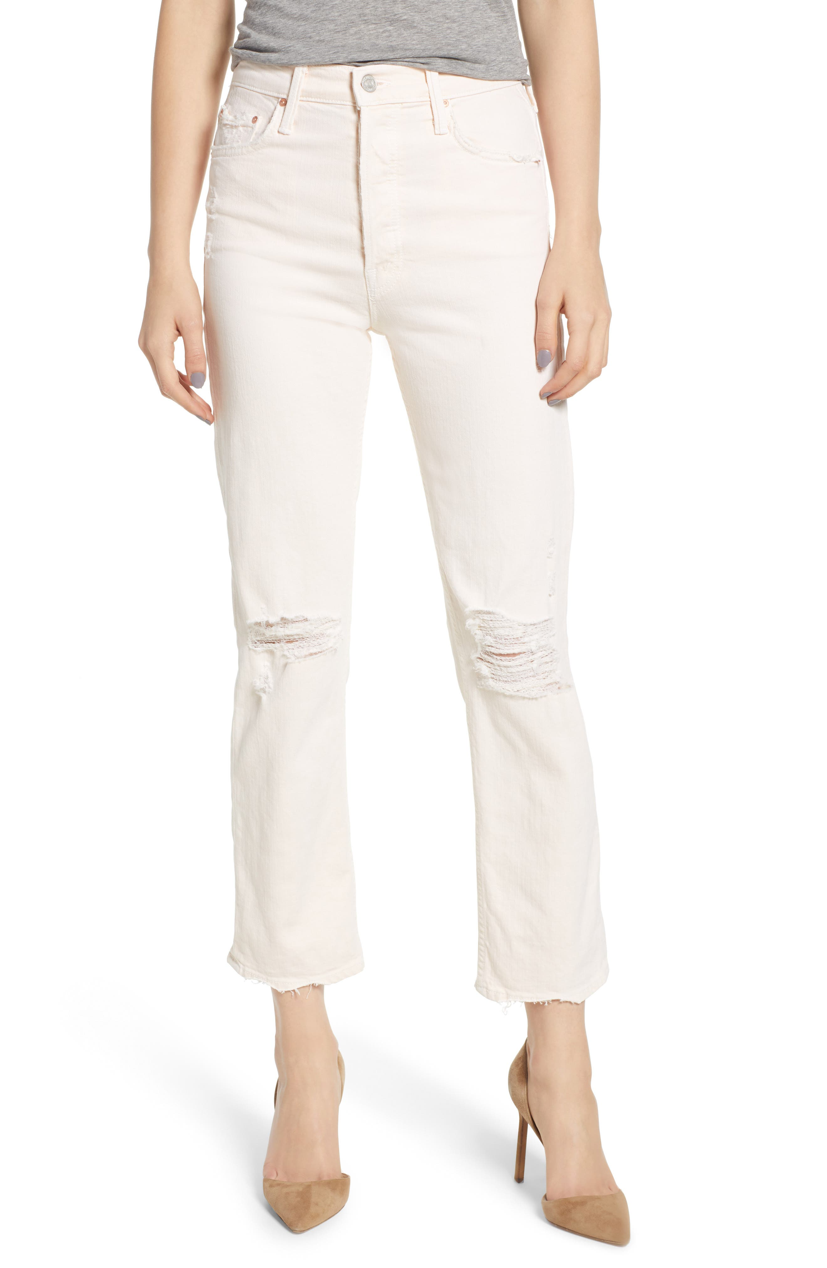 THE TOMCAT CHEW RIPPED CROP HIGH WAIST JEANS