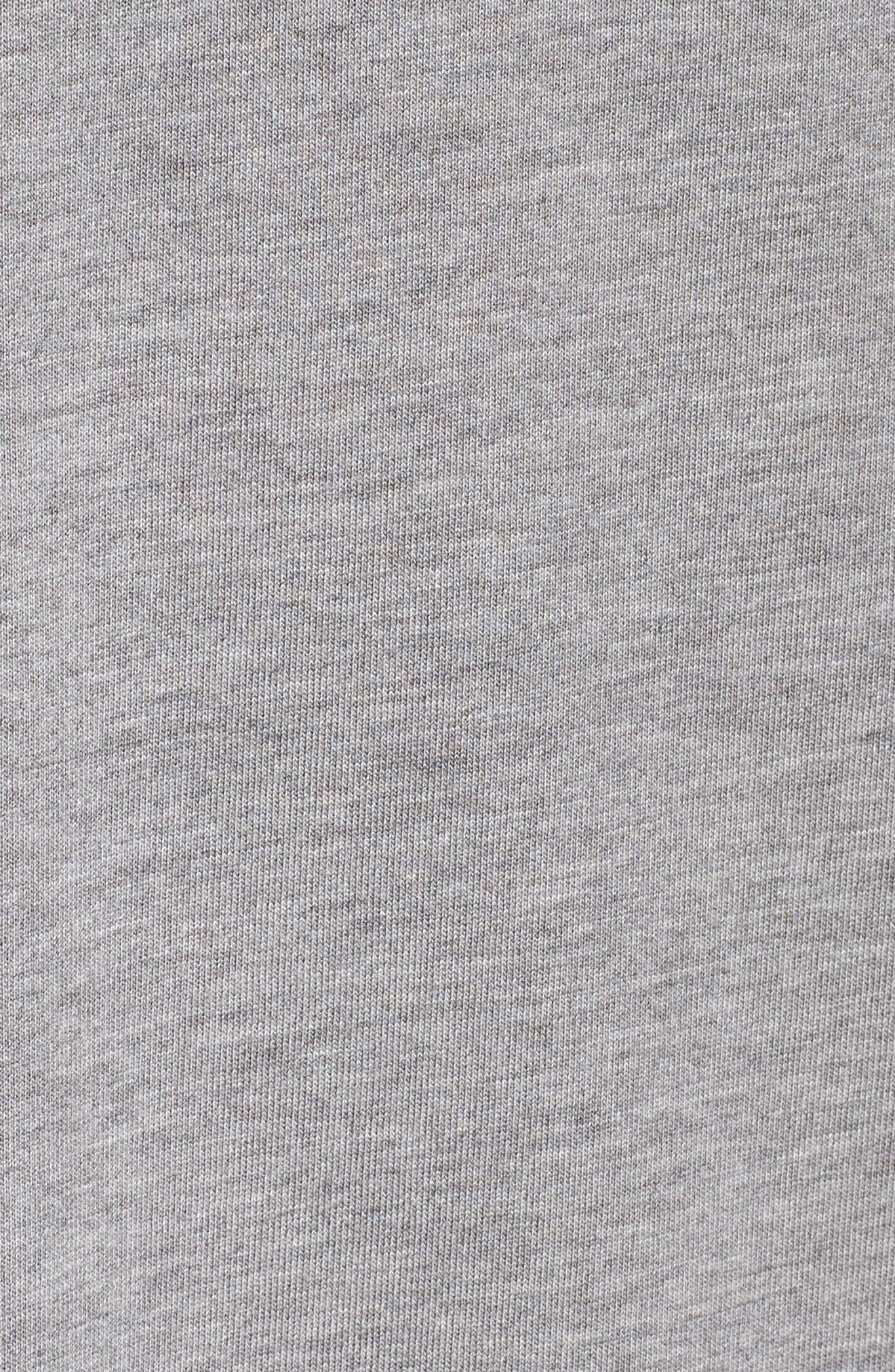Sportswear Sleeveless Dress,                             Alternate thumbnail 6, color,                             Carbon Heather/ Crimson Pulse