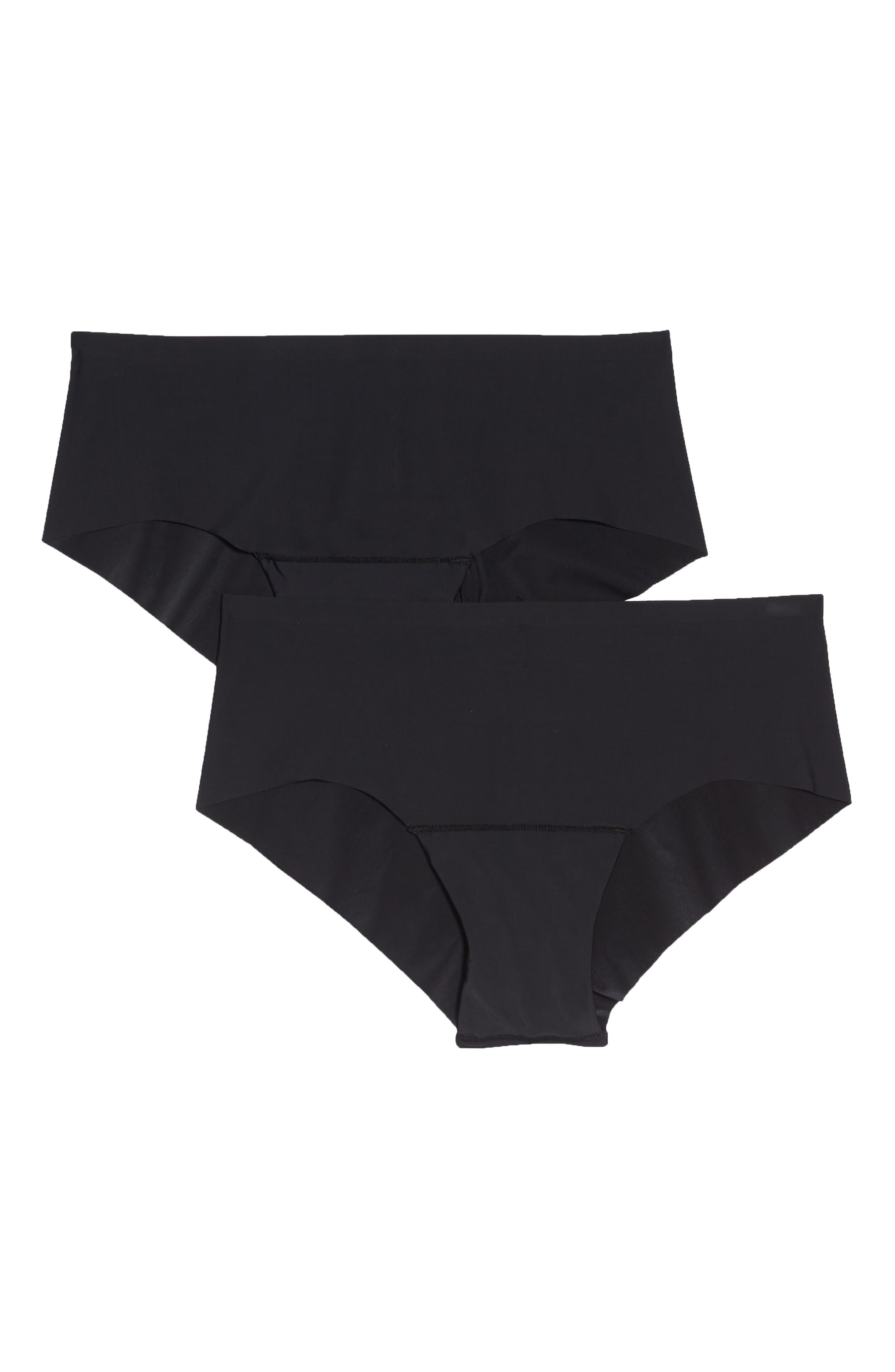2-Pack Dream Invisibles Hipster Panties,                             Main thumbnail 1, color,                             Black
