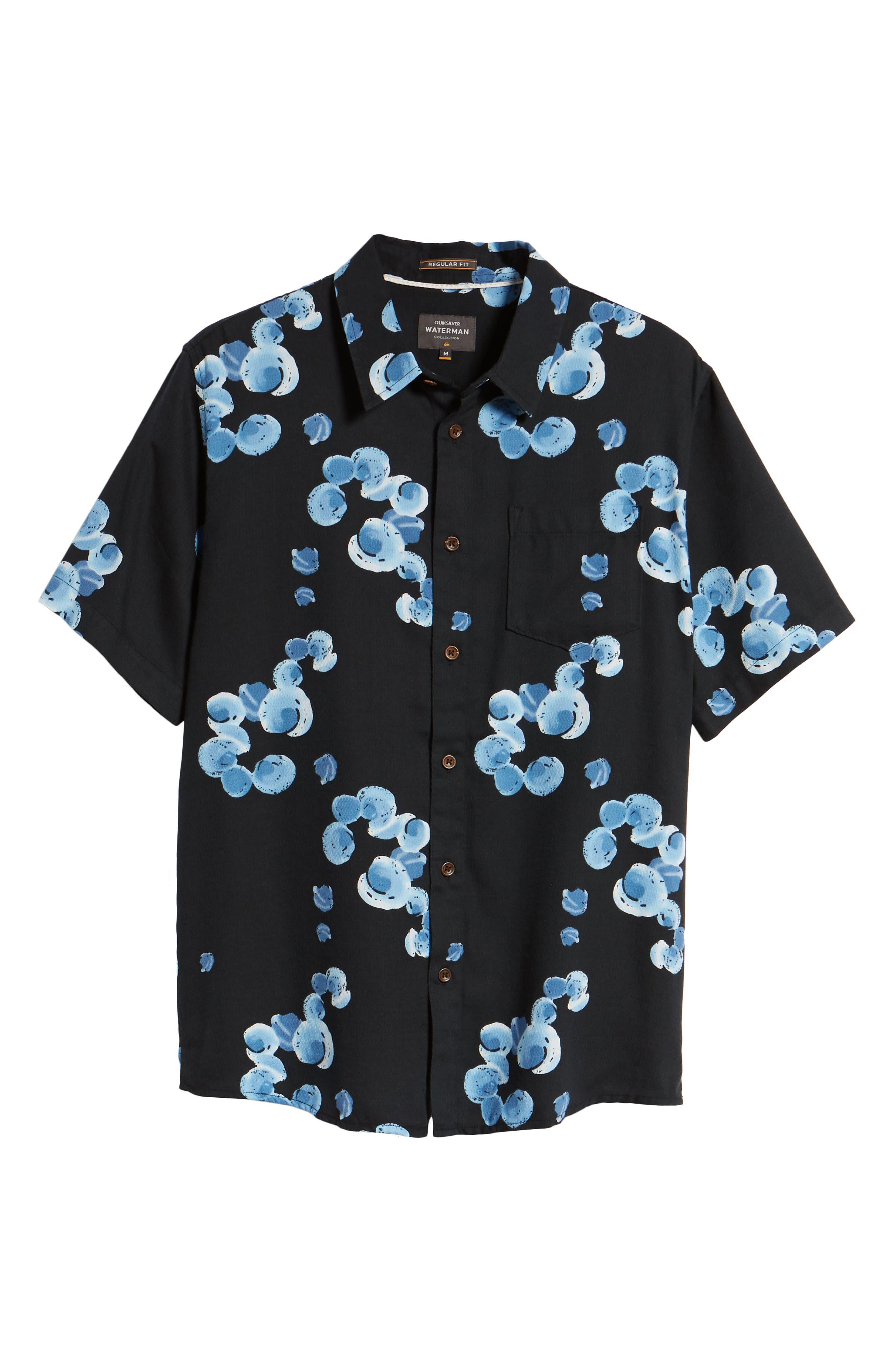 Plumes Dune Regular Fit Sport Shirt,                             Alternate thumbnail 6, color,                             Black