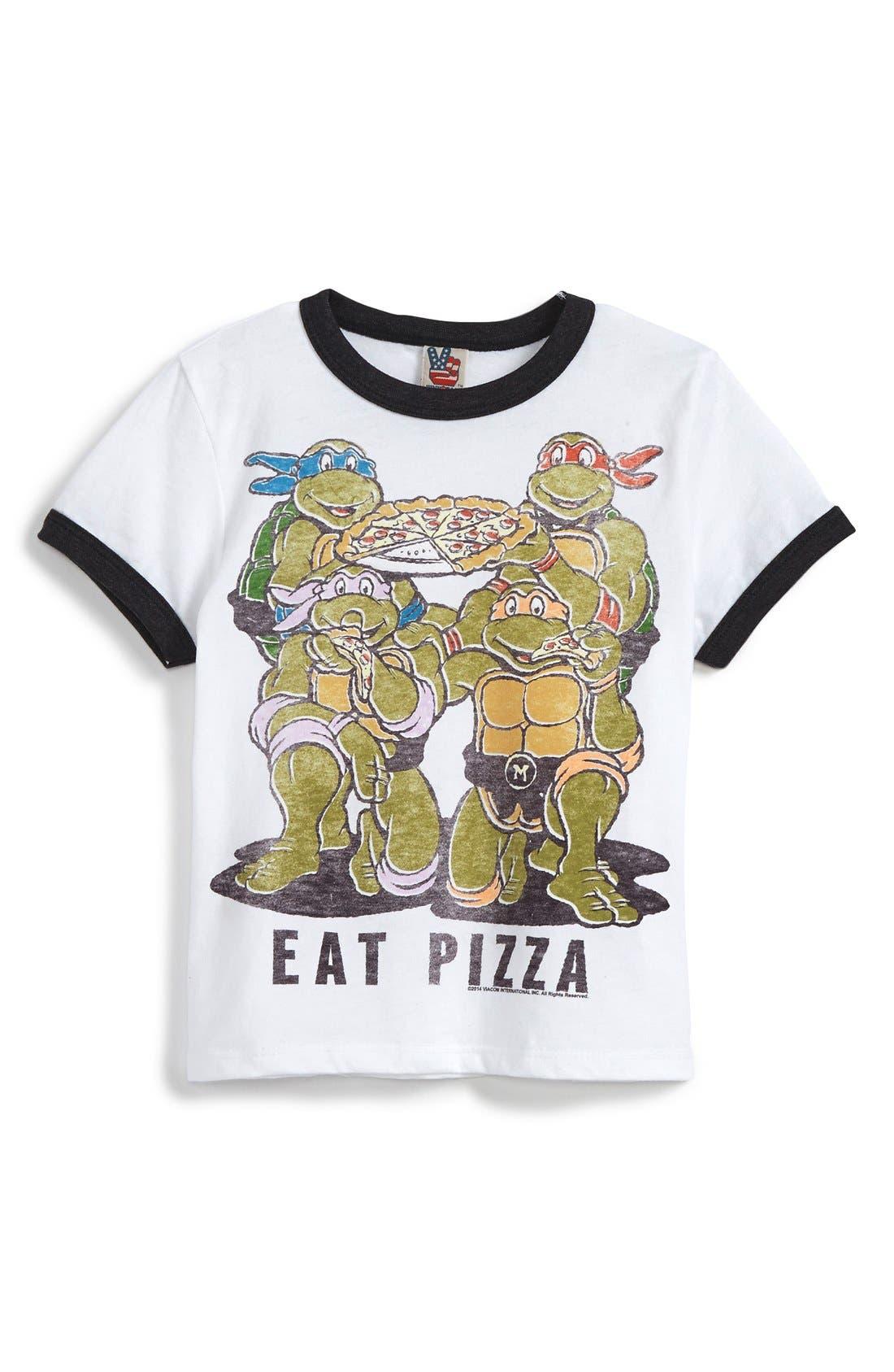 Alternate Image 1 Selected - Junk Food 'Teenage Mutant Ninja Turtles™ - Eat Pizza' Graphic T-Shirt (Little Boys & Big Boys)