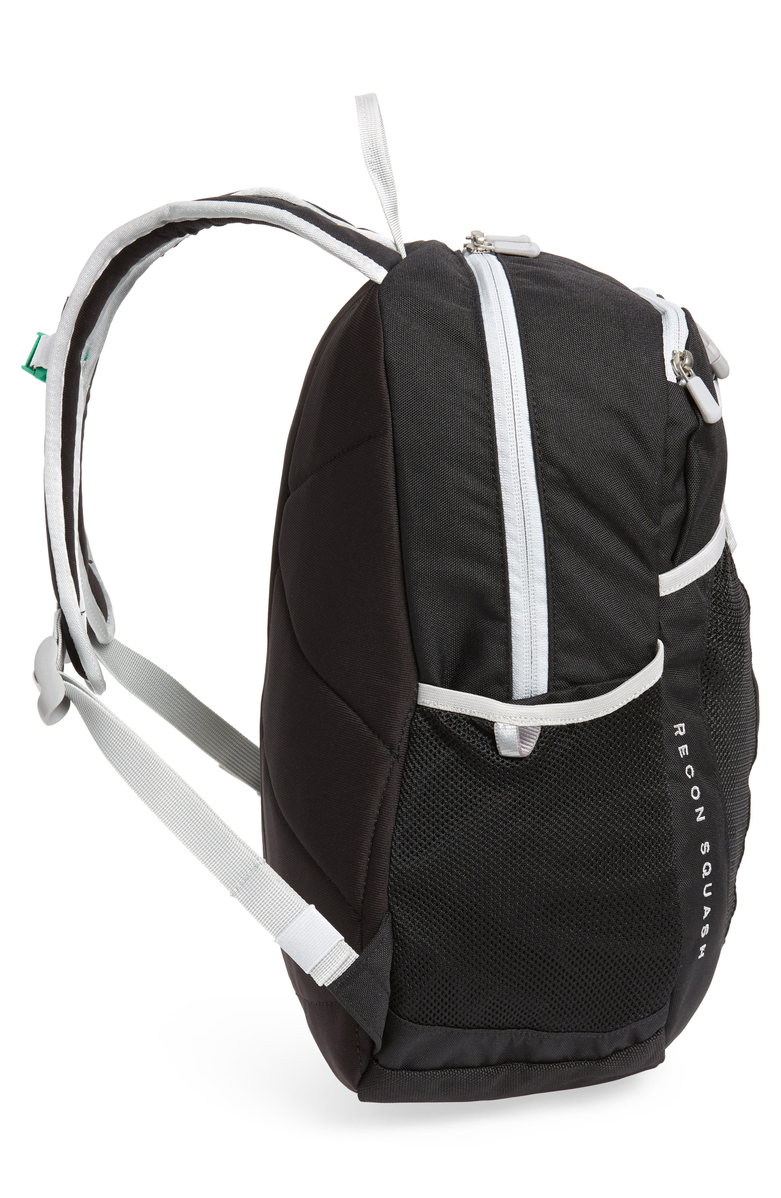 Recon Squash Backpack,                             Alternate thumbnail 3, color,                             Tnf Black/ High Rise Grey
