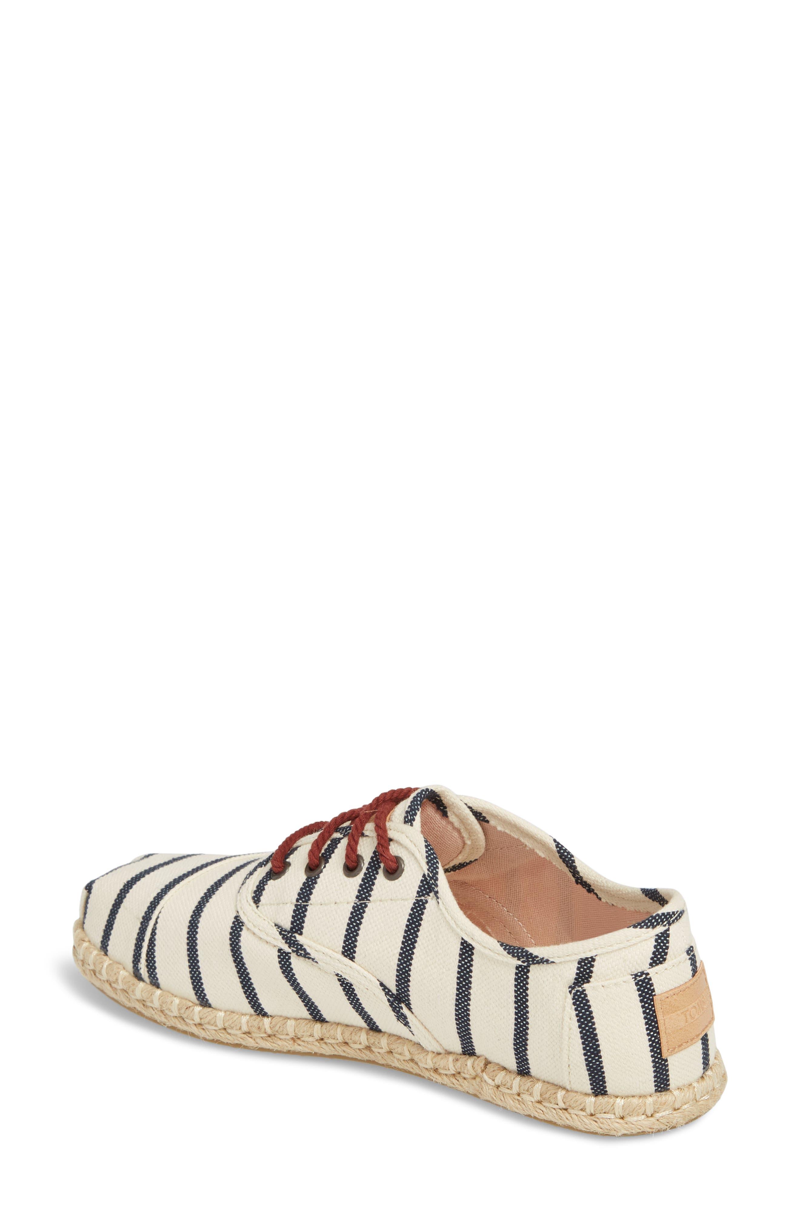 Cordones Sneaker,                             Alternate thumbnail 2, color,                             Natural Stripe Woven