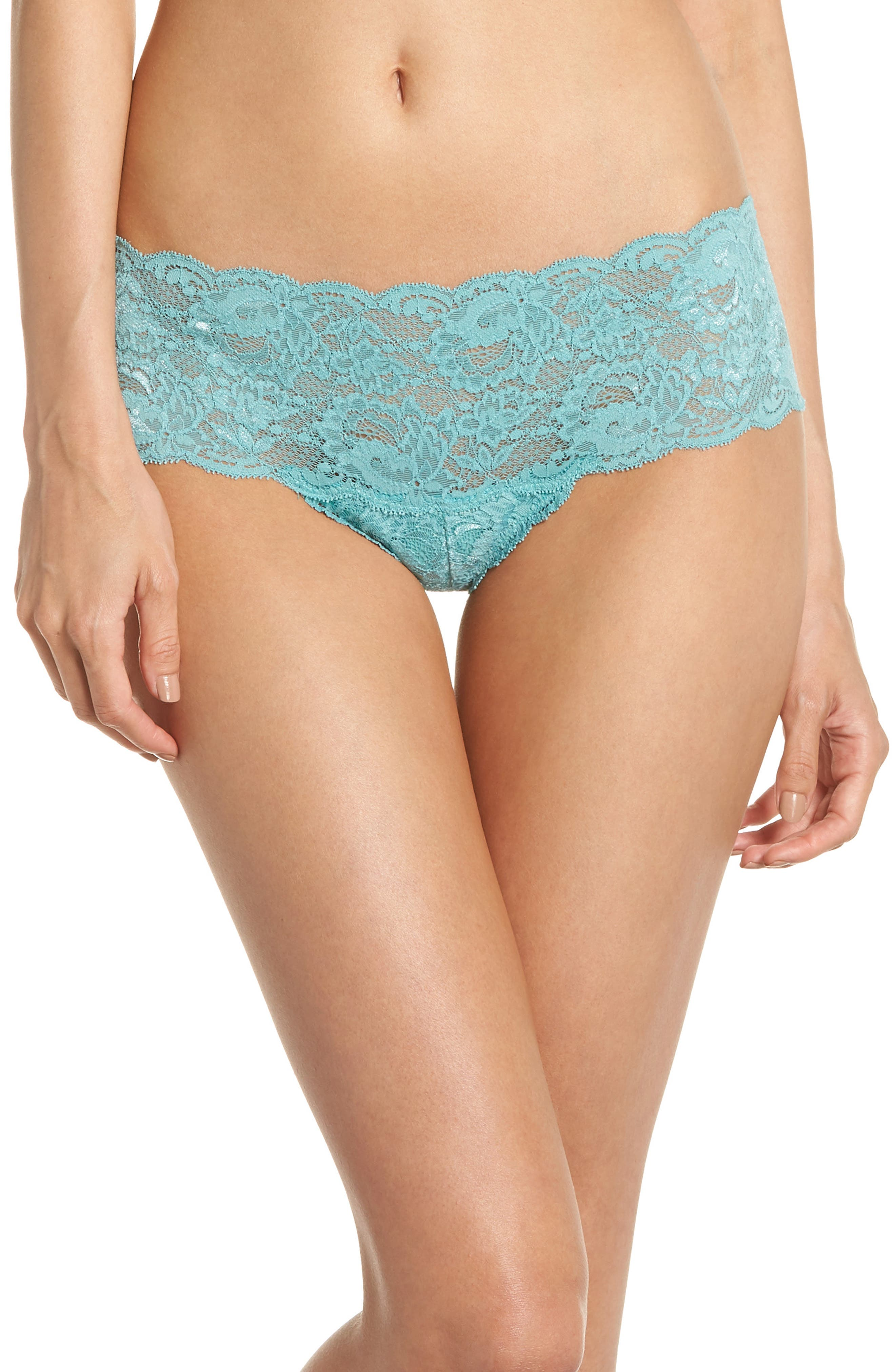 'Never Say Never' Hipster Briefs,                             Main thumbnail 1, color,                             Dusty Turquoise