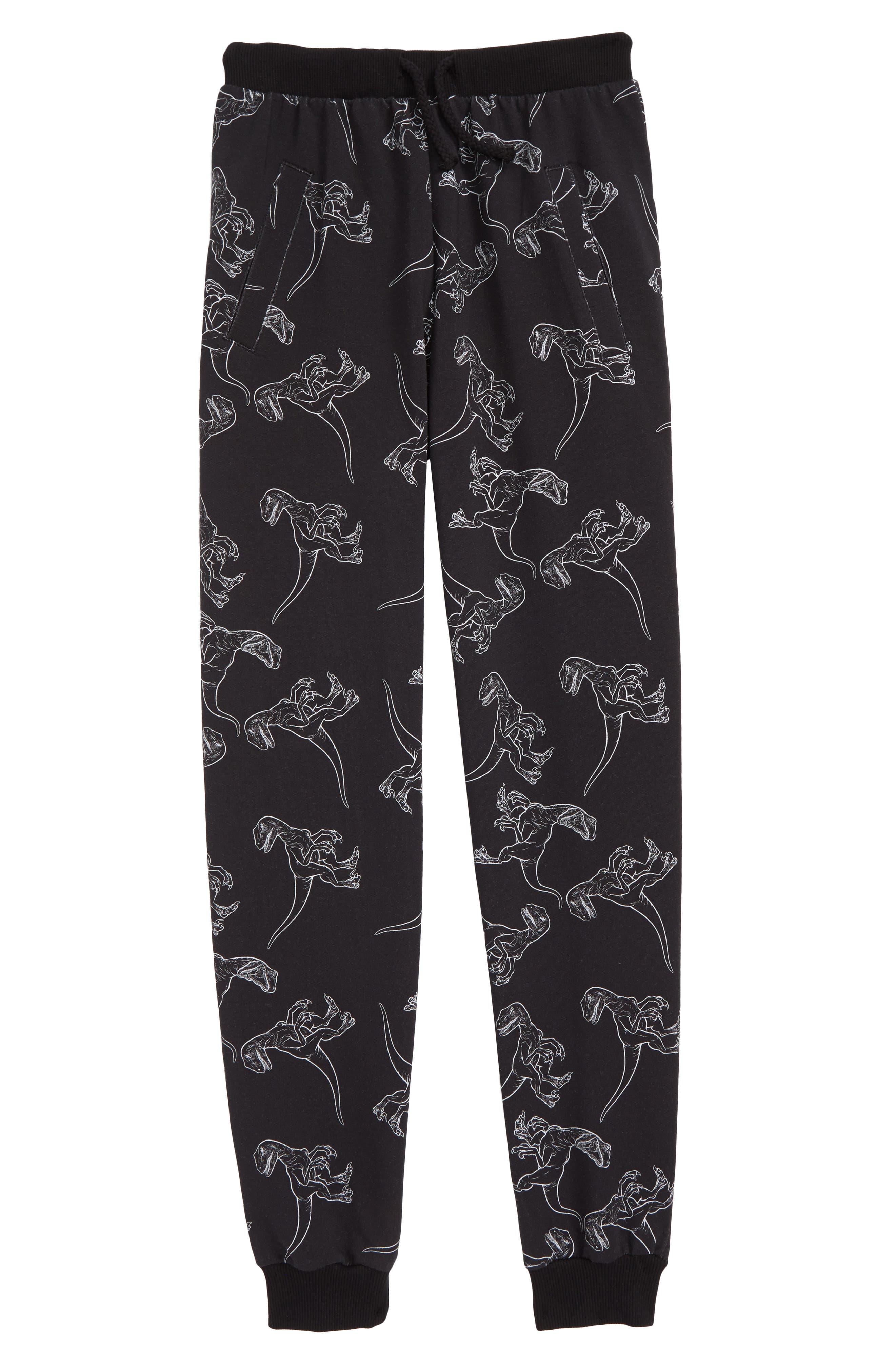 x Jurassic World Isla Sweatpants,                         Main,                         color, Black