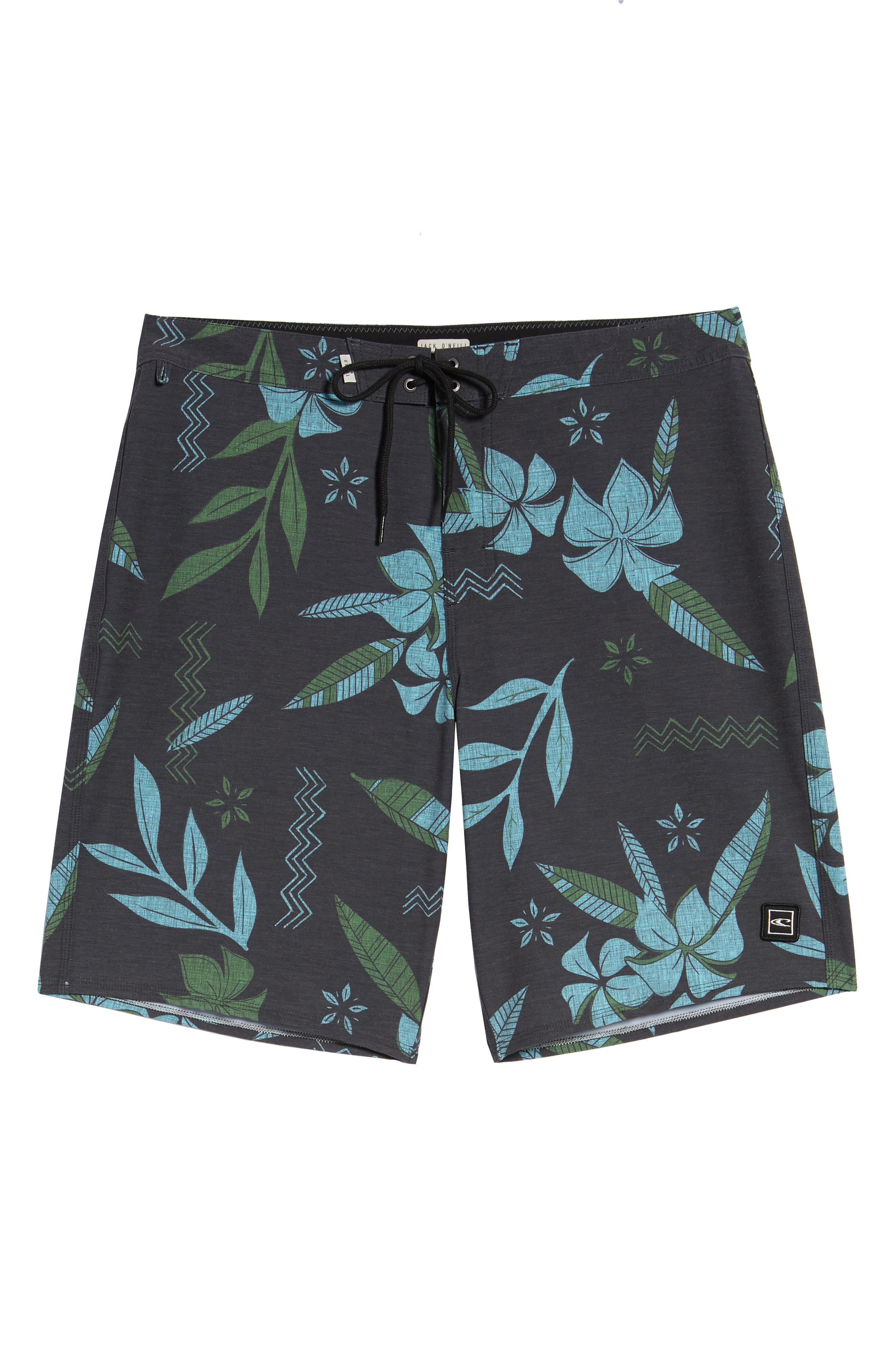 Maui Board Shorts,                             Alternate thumbnail 6, color,                             Black