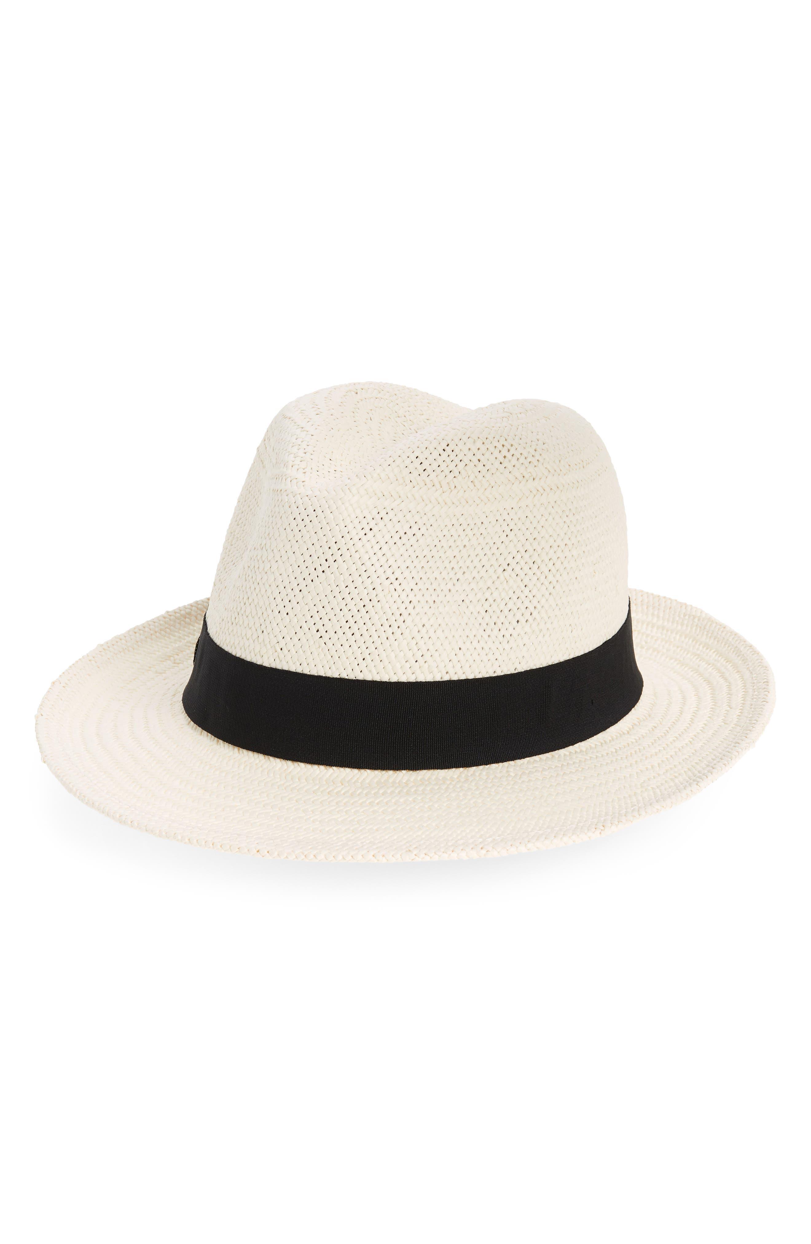 Straw Panama Hat,                         Main,                         color, Ivory