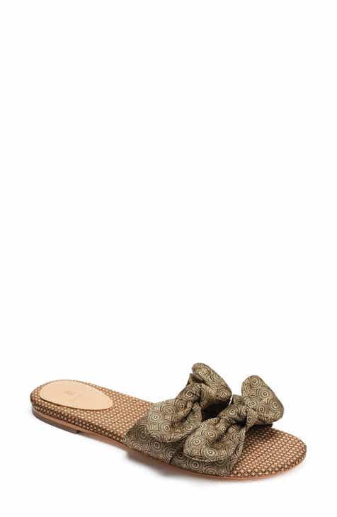 f0c11f63d527 Bill Blass Brianne Bow Slide Sandal (Women)