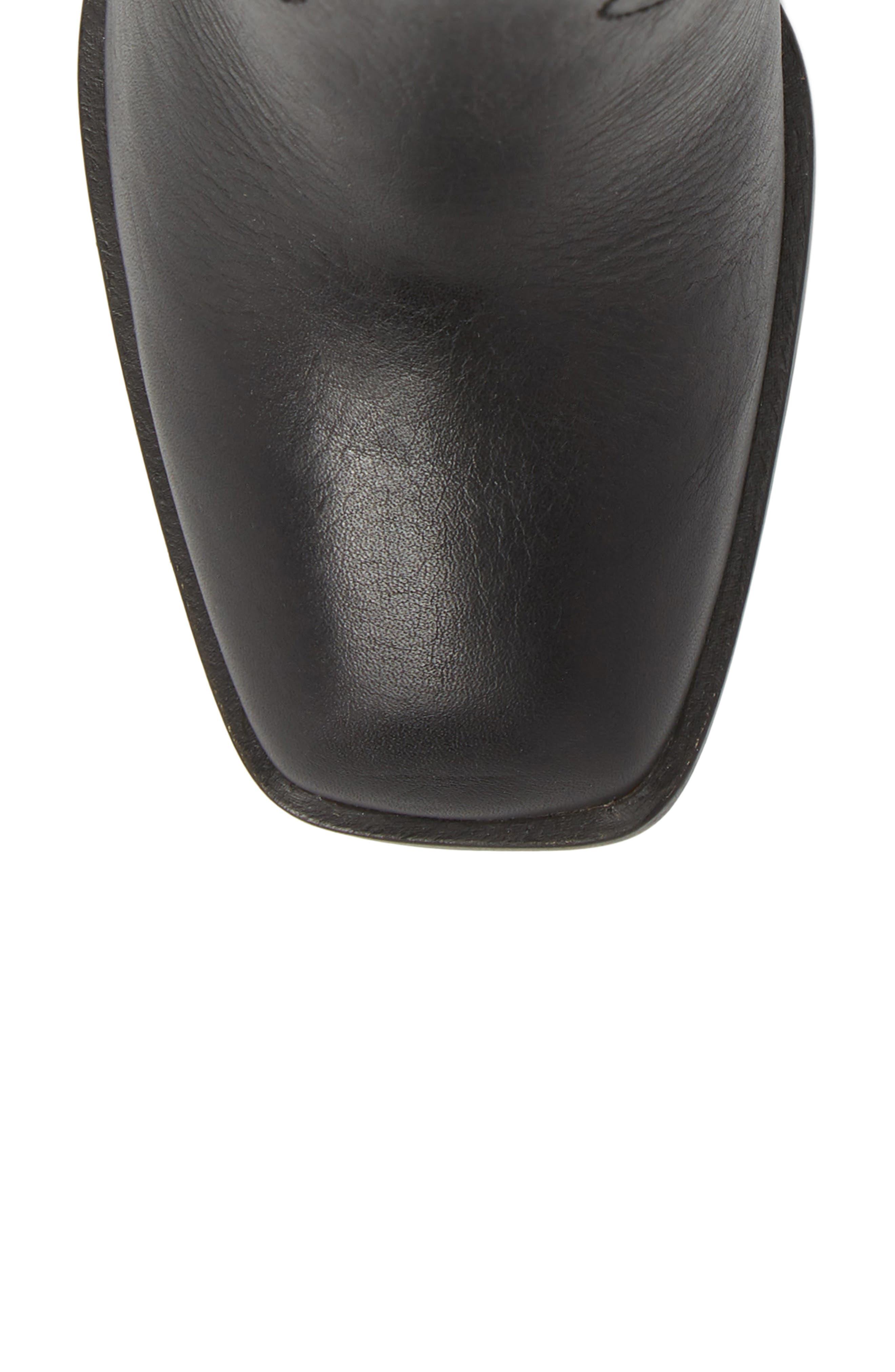 Nero Bootie,                             Alternate thumbnail 5, color,                             Black Leather