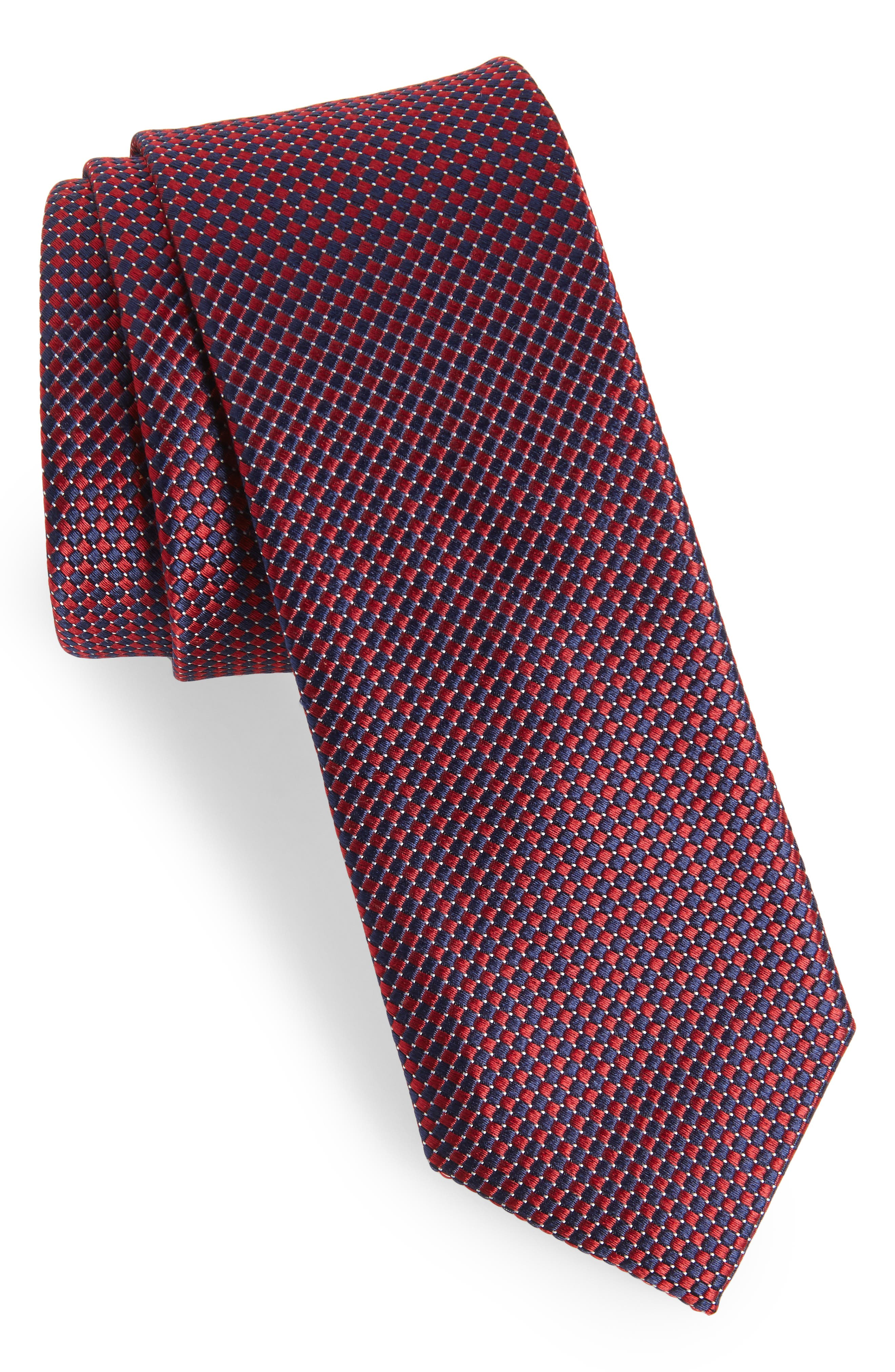Colombo Silk Tie,                         Main,                         color, Red