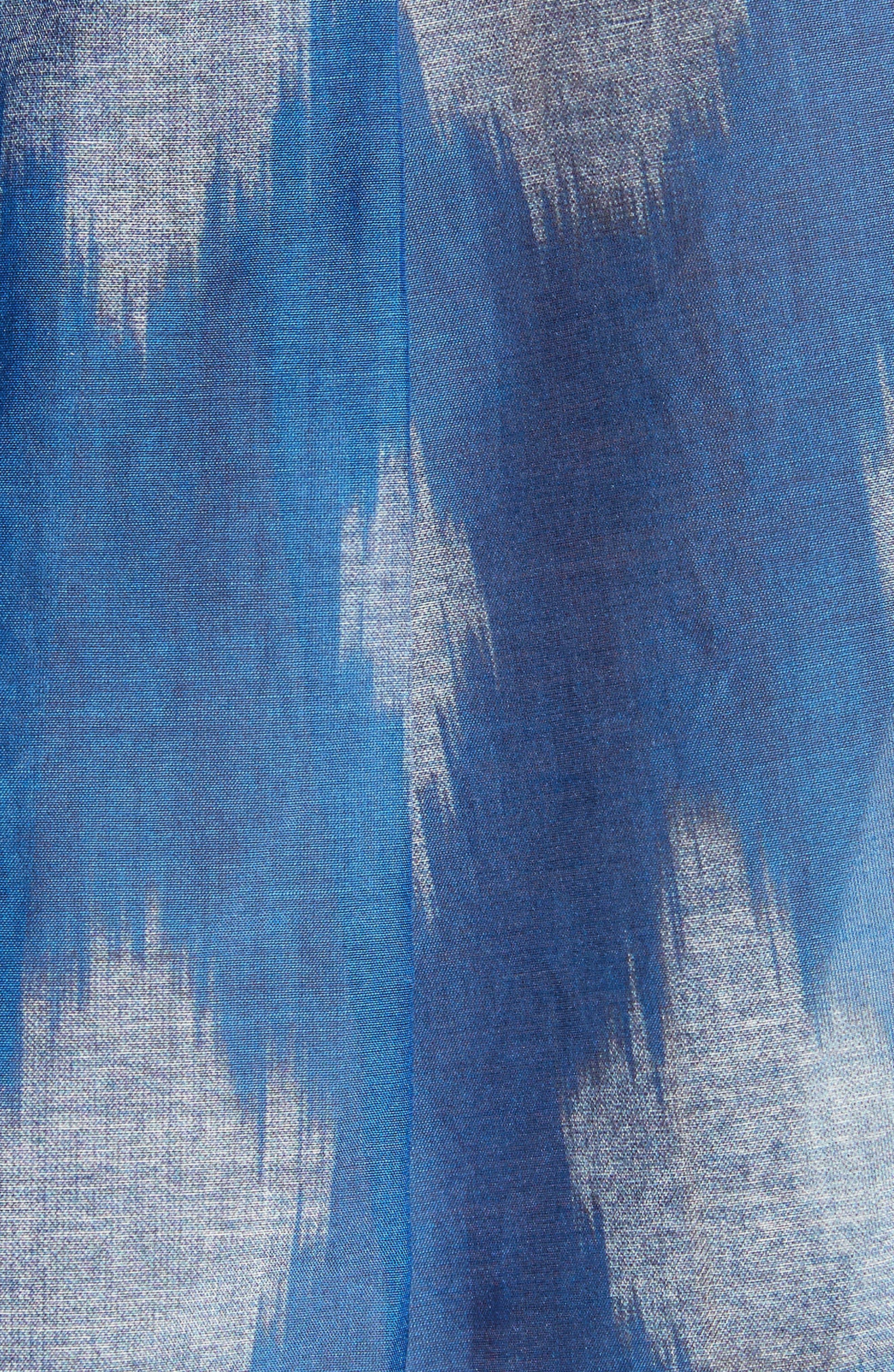 Tamalee Ikat Spot Blouse,                             Alternate thumbnail 5, color,                             White/ Blue